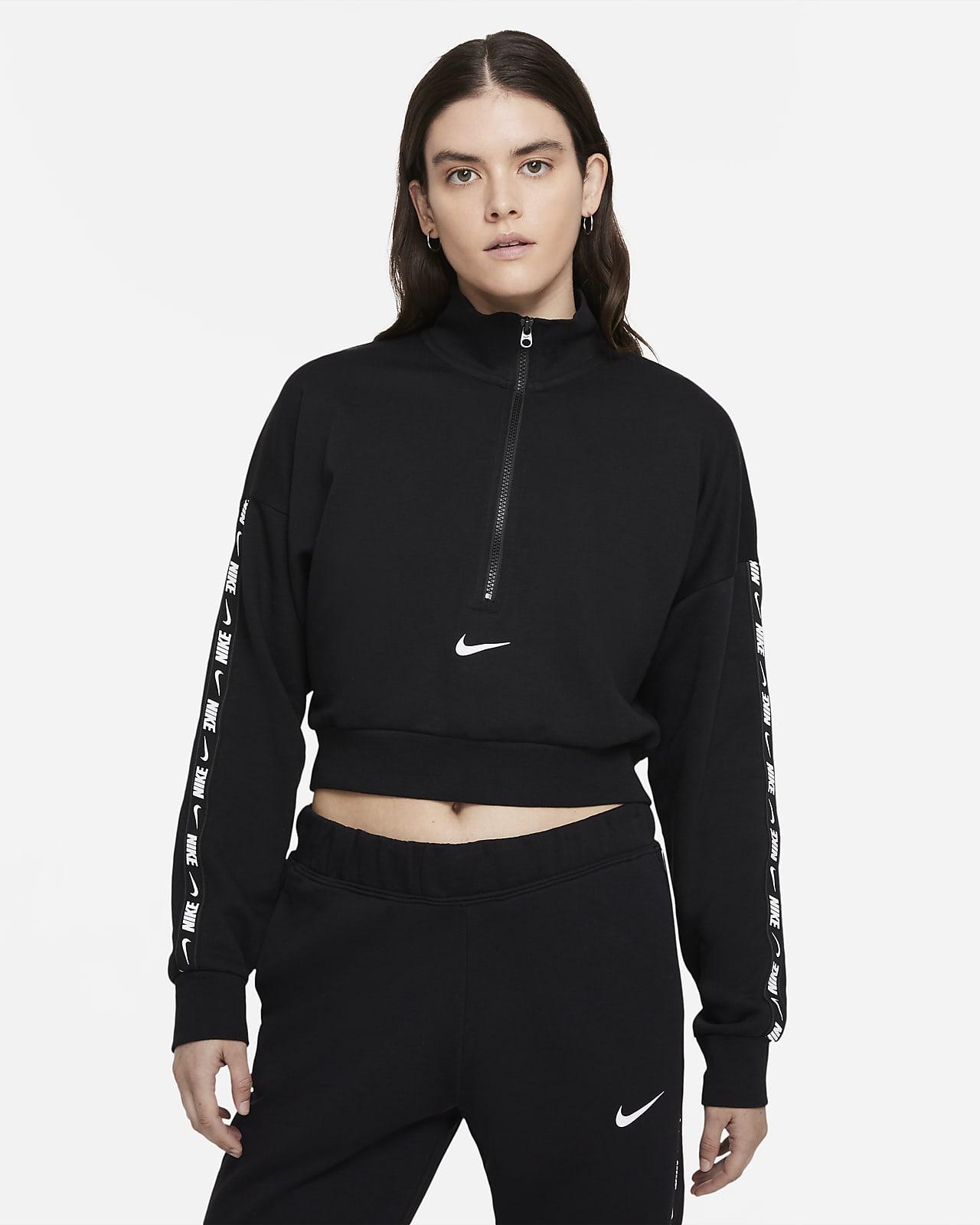 Женская укороченная флисовая футболка Nike Sportswear Essential