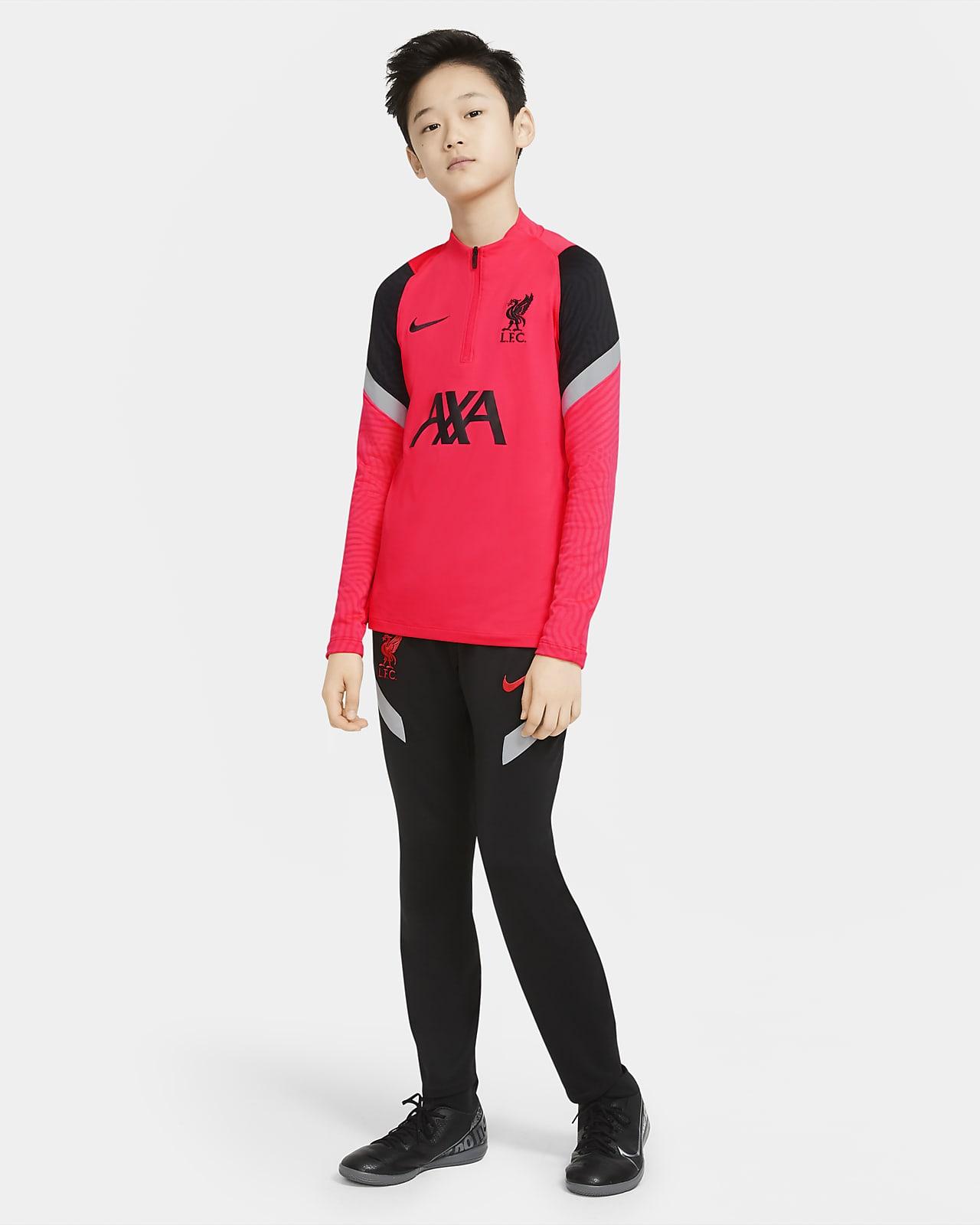 Haut d'entraînement de football Liverpool FC Strike pour Enfant plus âgé