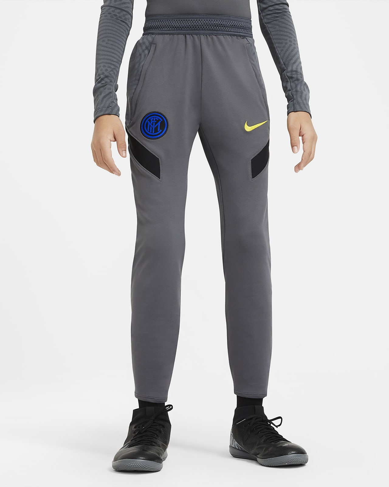 Pantalon de football Inter Milan Strike pour Enfant plus âgé