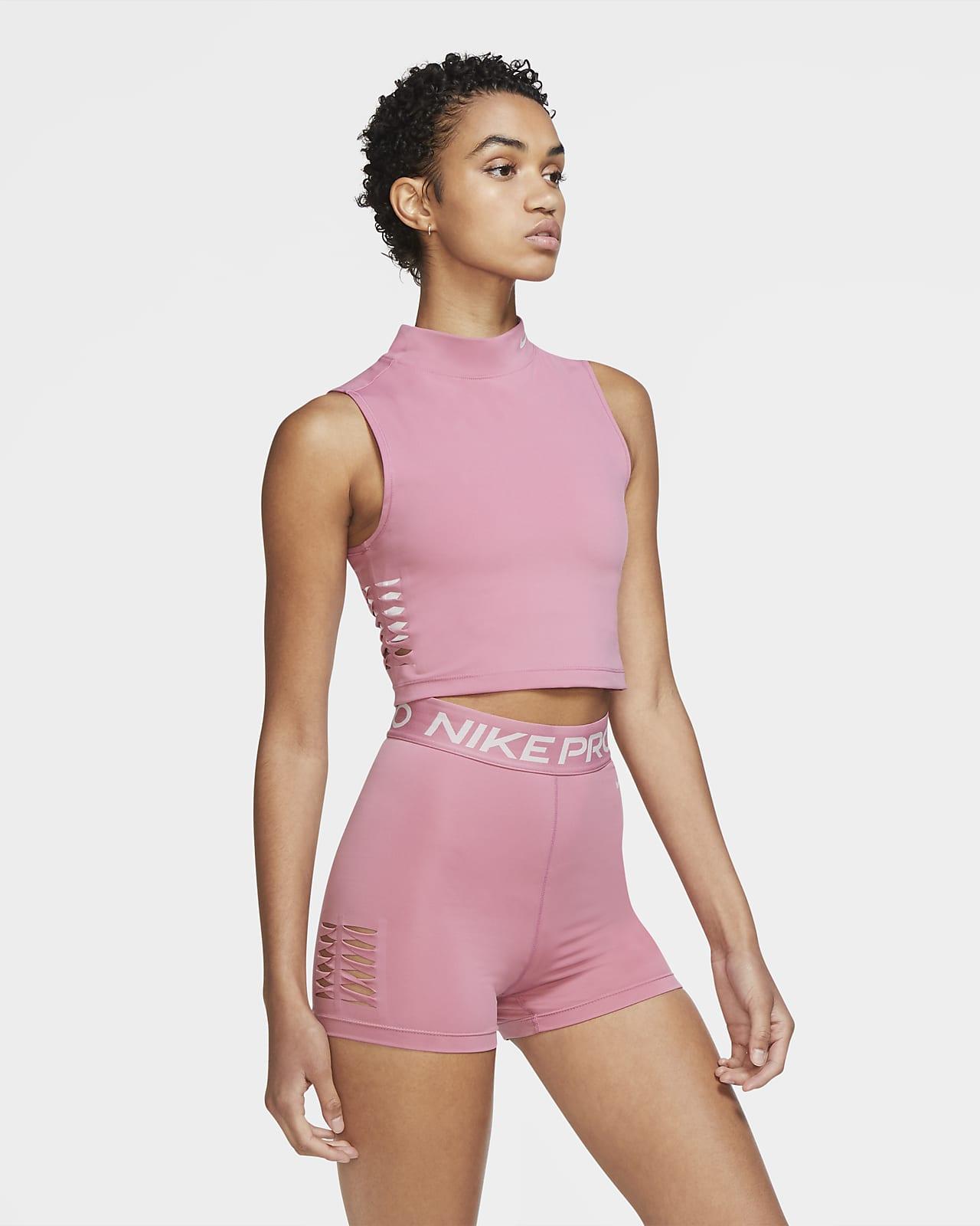 Damska krótka koszulka bez rękawów Nike Pro Dri-FIT