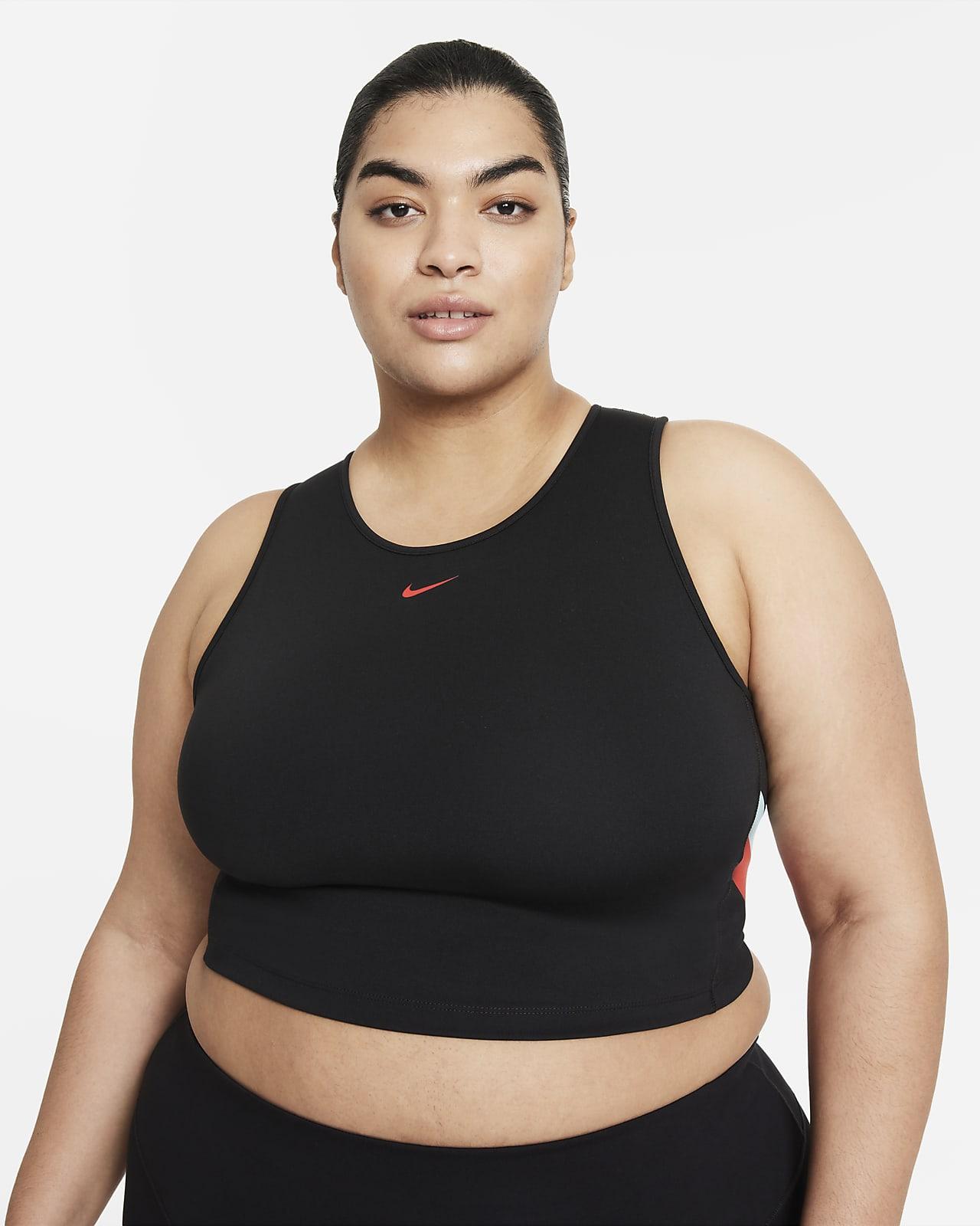 Nike Women's Color-Block Stripe Cropped Training Tank (Plus Size)