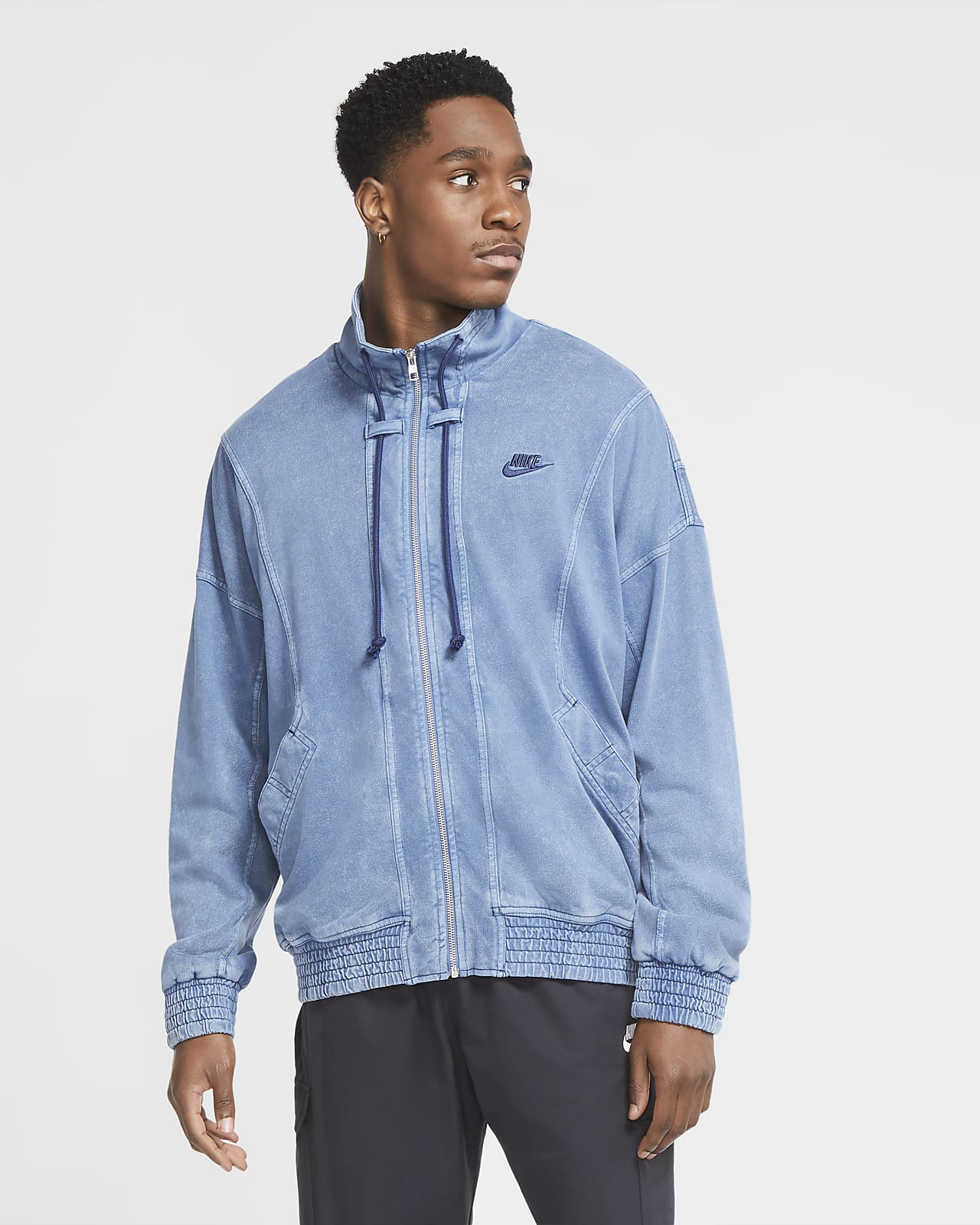 Nike Sportswear kötött, koptatott férfikabát