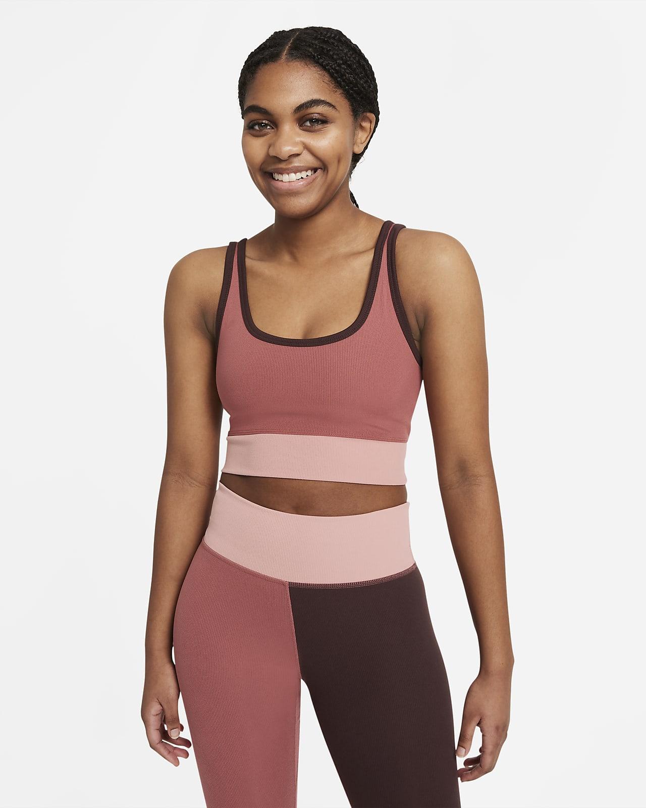 Nike Luxe bordázott, rövid szabású női edzőtrikó