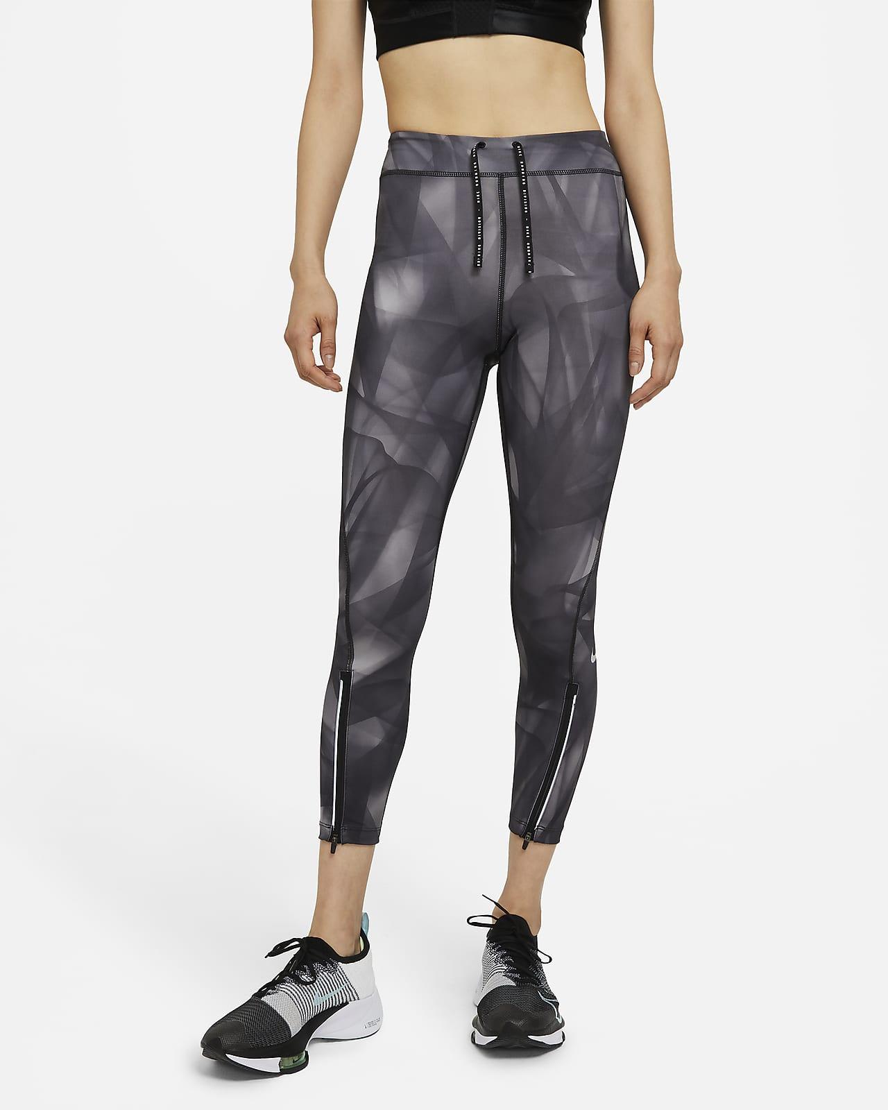 เลกกิ้งวิ่งเอวปานกลาง 7/8 ส่วนผู้หญิง Nike Epic Faster Run Division