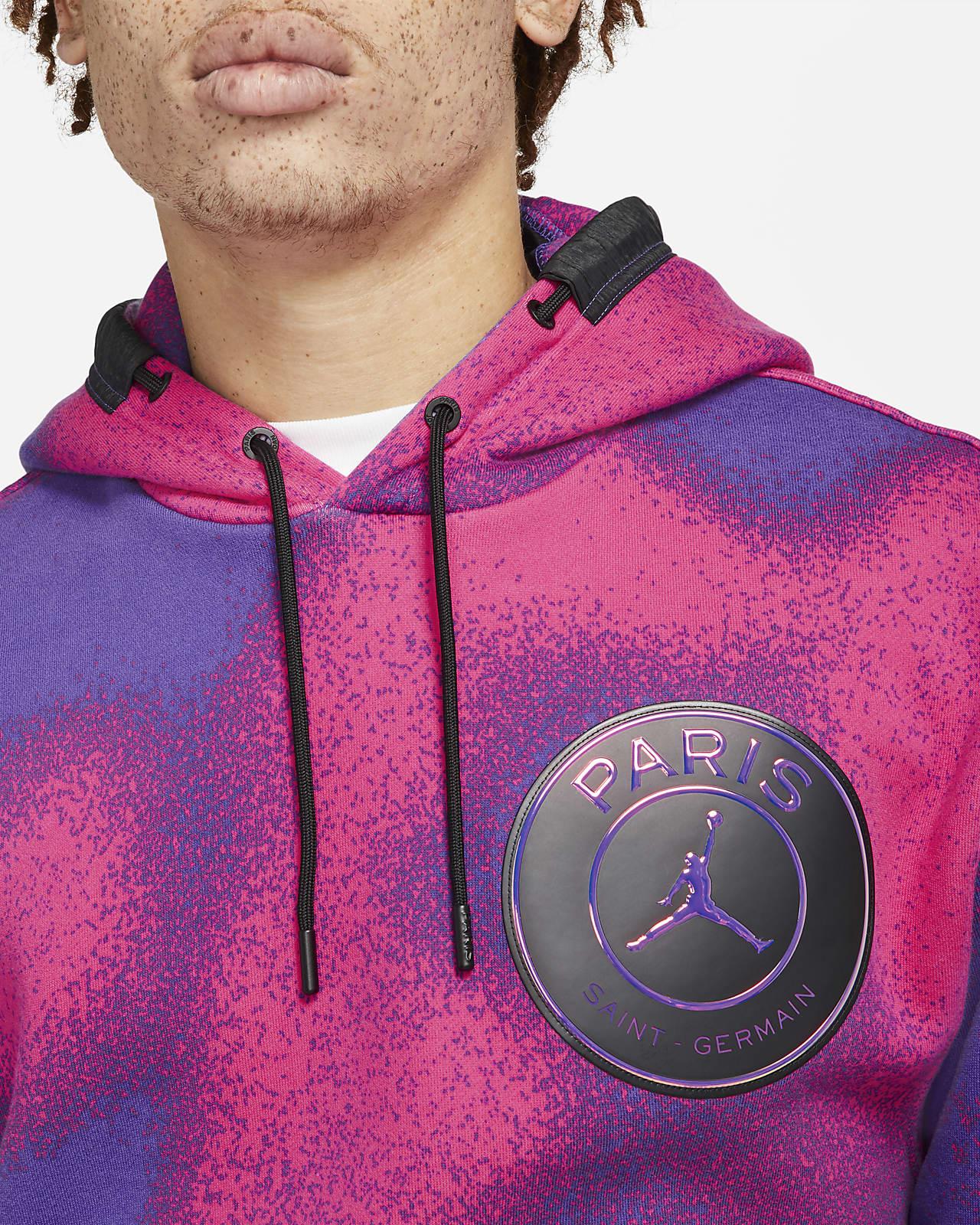 Felpa pullover in fleece con cappuccio e stampa Paris Saint-Germain - Uomo
