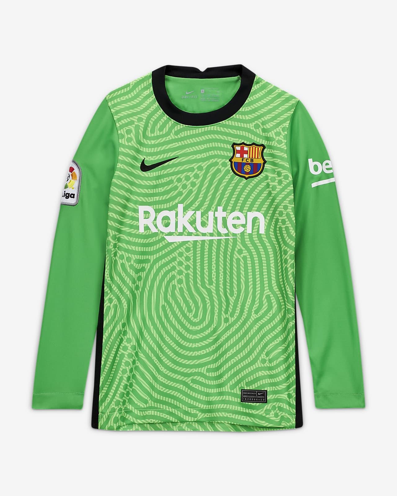 Camisola de futebol Stadium Goalkeeper FC Barcelona 2020/21 Júnior