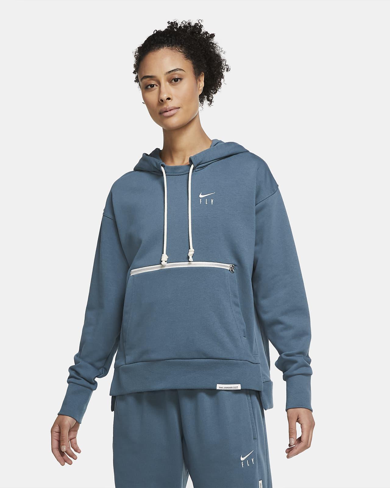 Sudadera con capucha sin cierre de básquetbol para mujer Nike Swoosh Fly Standard Issue