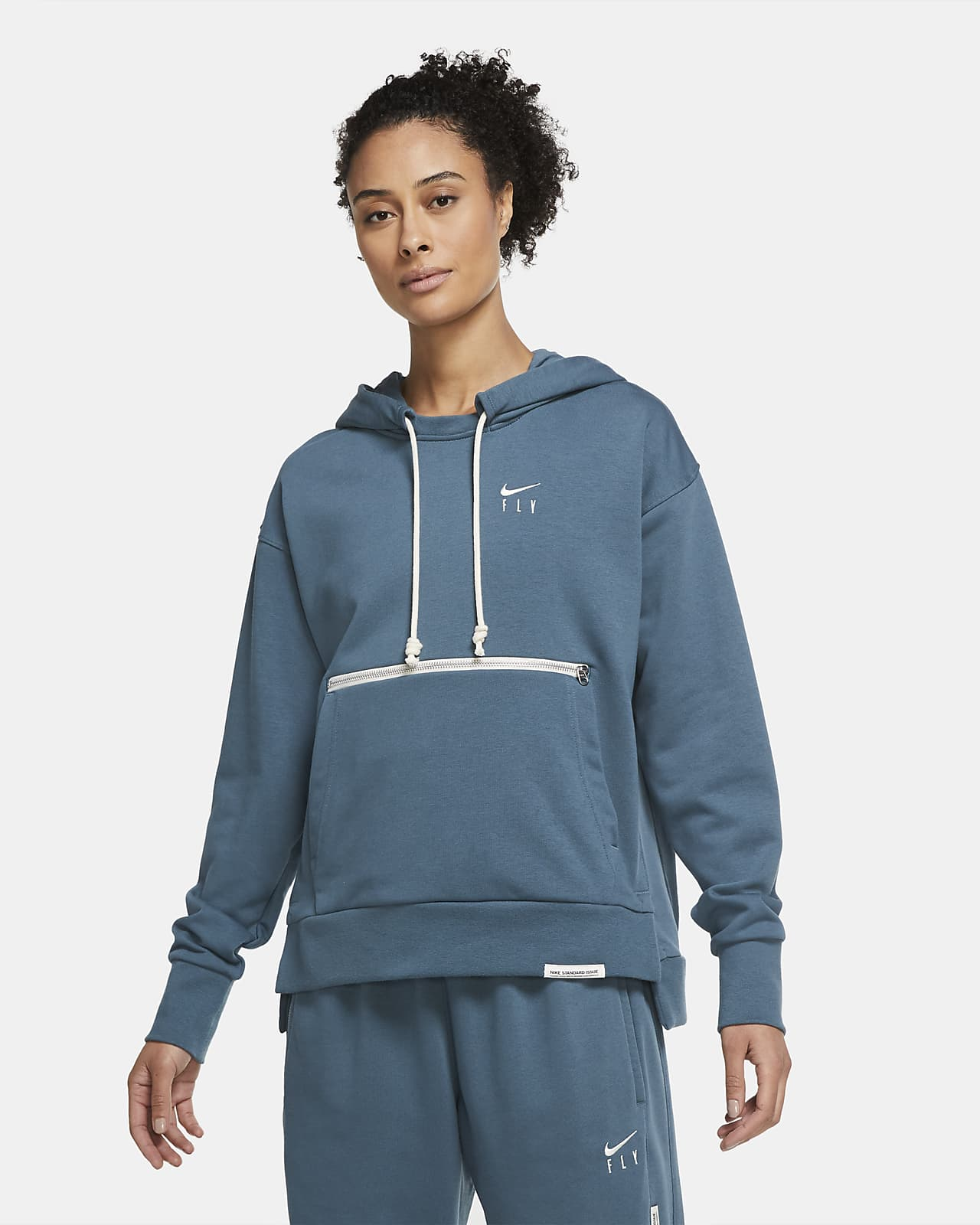 Sweat à capuche de basketball Nike Swoosh Fly Standard Issue pour Femme