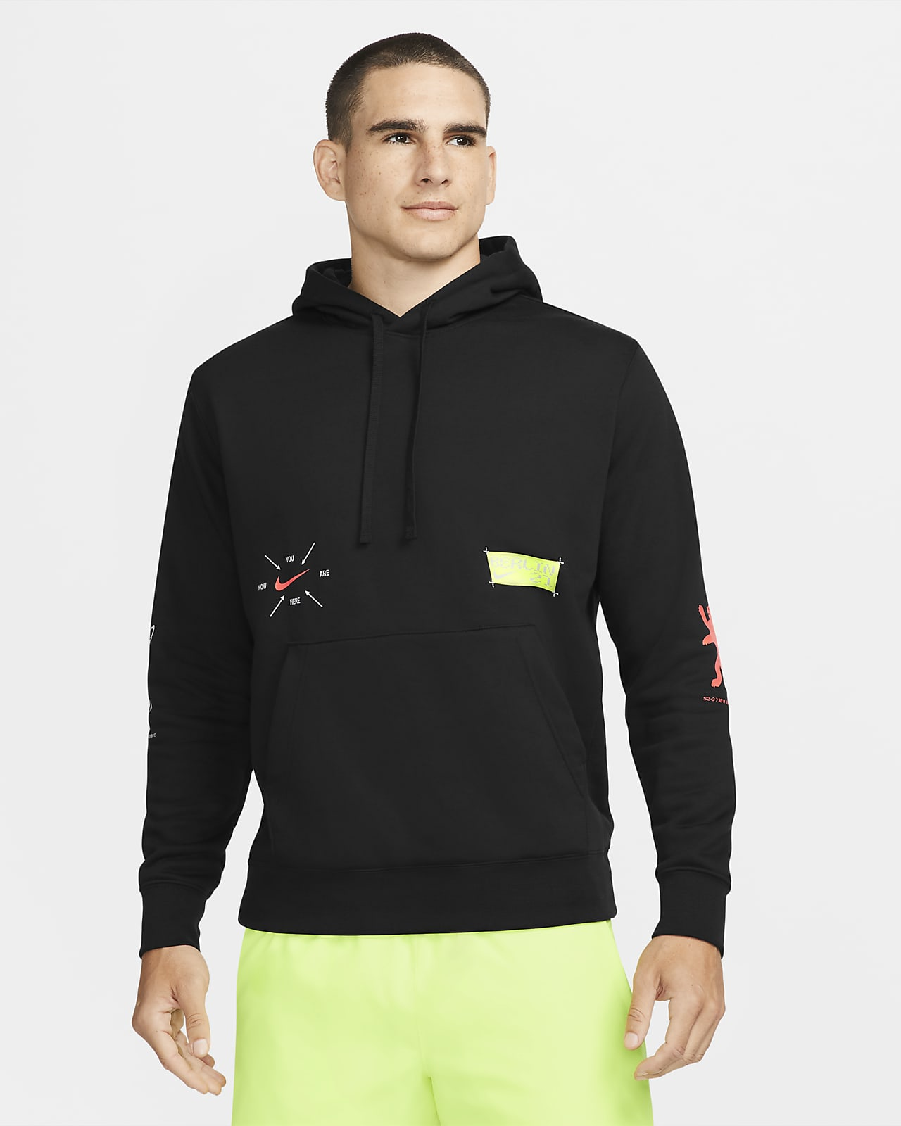 Nike Berlin Club Fleece Pullover-Lauf-Hoodie für Herren