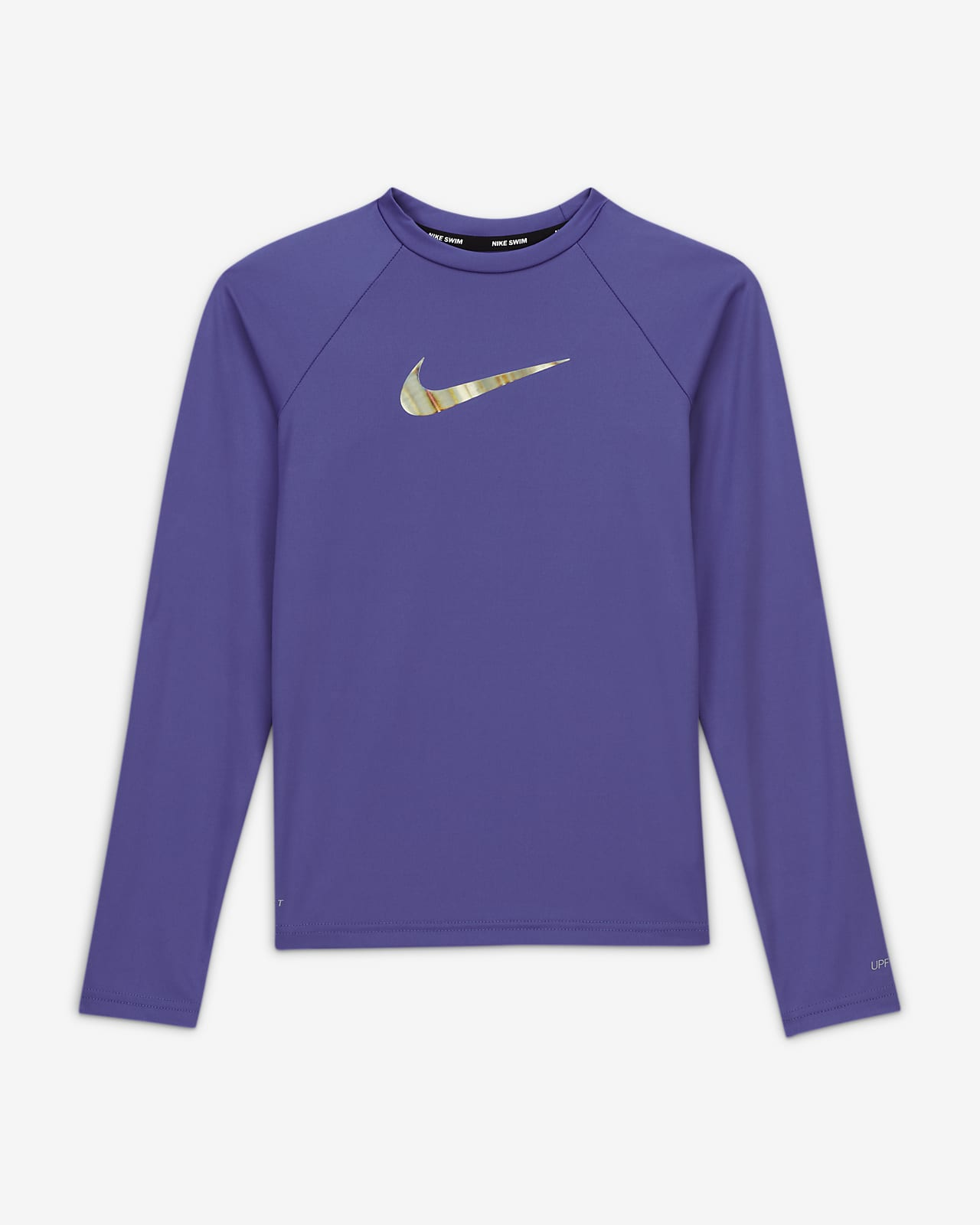 Nike Swoosh Big Kids' (Girls') Long-Sleeve Hydroguard Swim Shirt