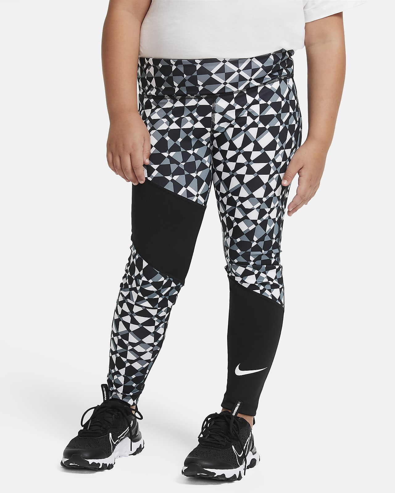 Nike Trophy Big Kids' (Girls') Printed Training Tights (Extended Size)