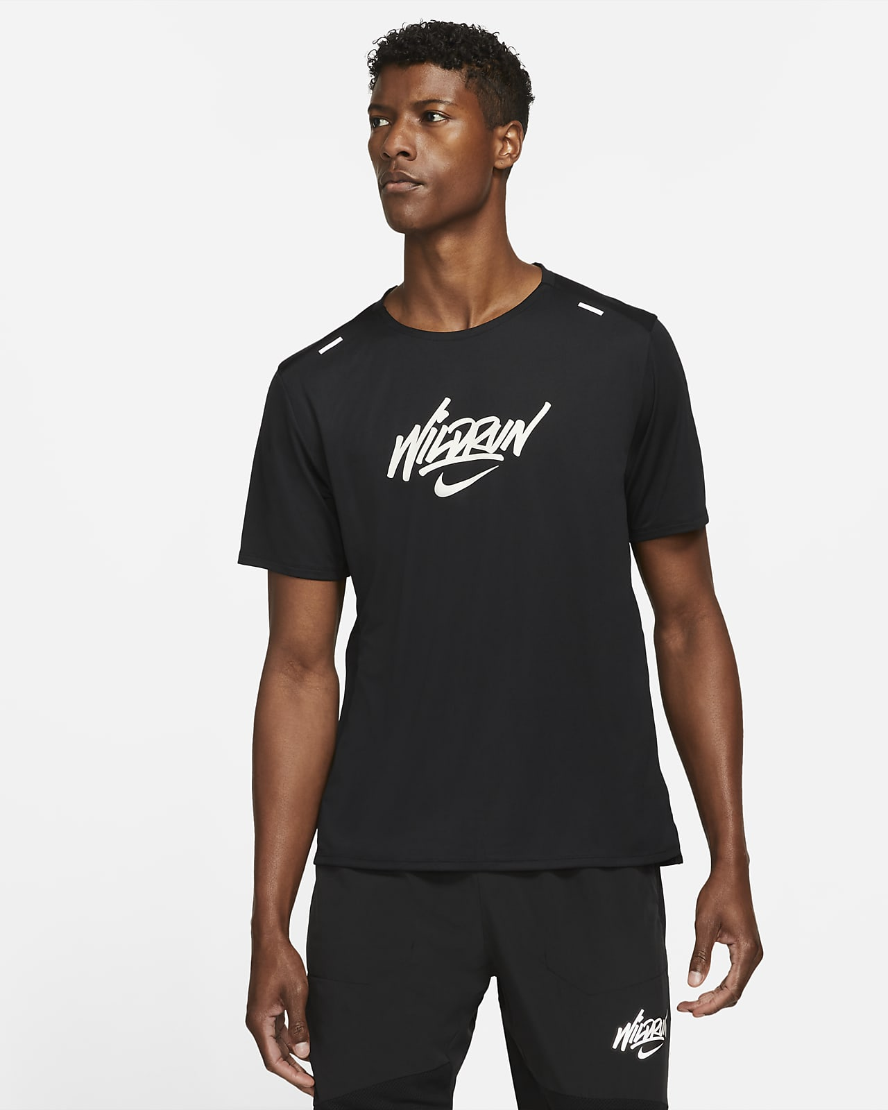Camiseta de running de manga corta para hombre Nike Rise 365 Wild Run