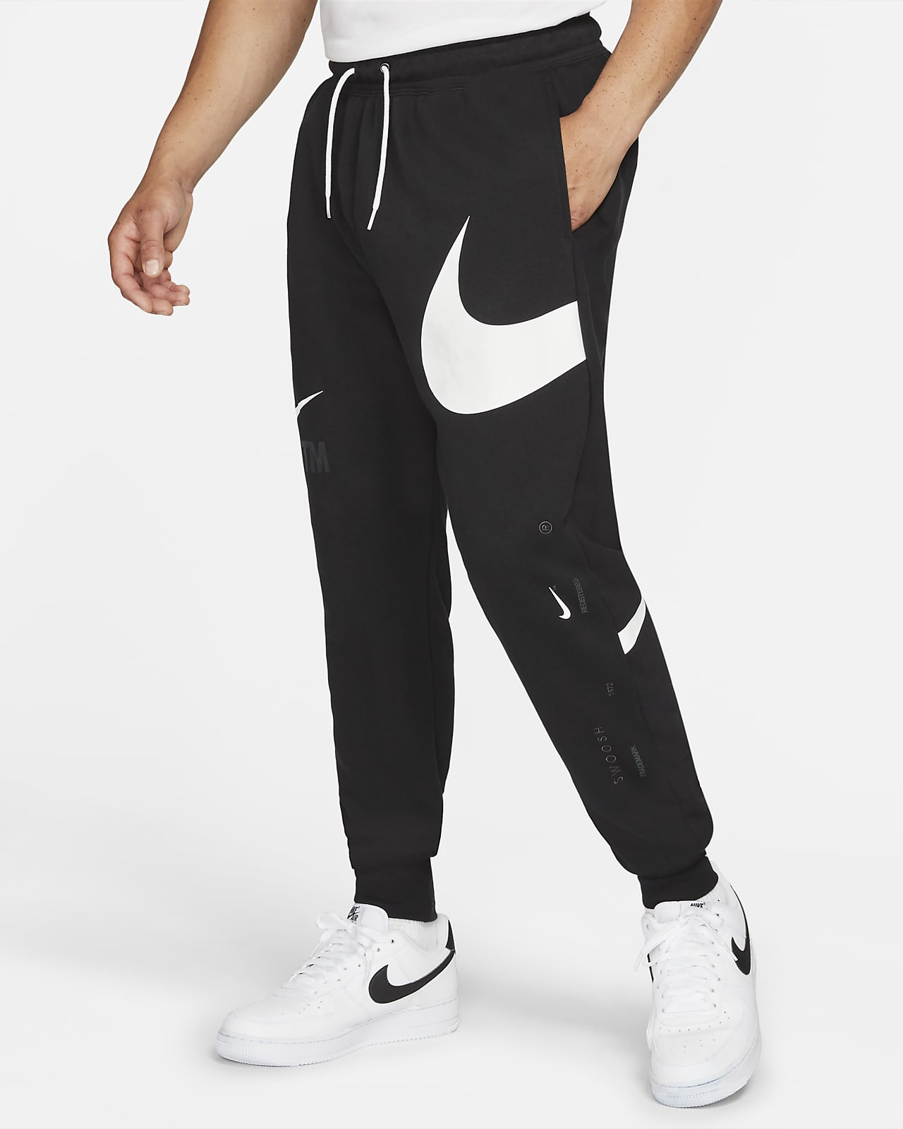 Nike Sportswear Swoosh Men's Semi-Brushed Back Pants