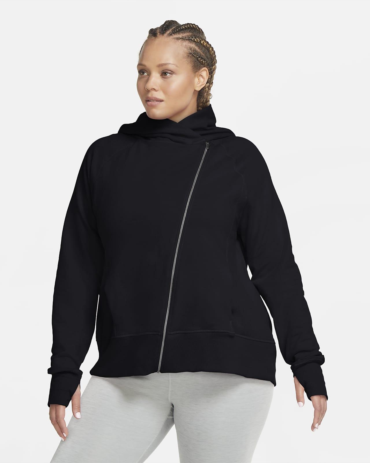 Sweat à capuche entièrement zippé Nike Yoga pour Femme (grande taille)