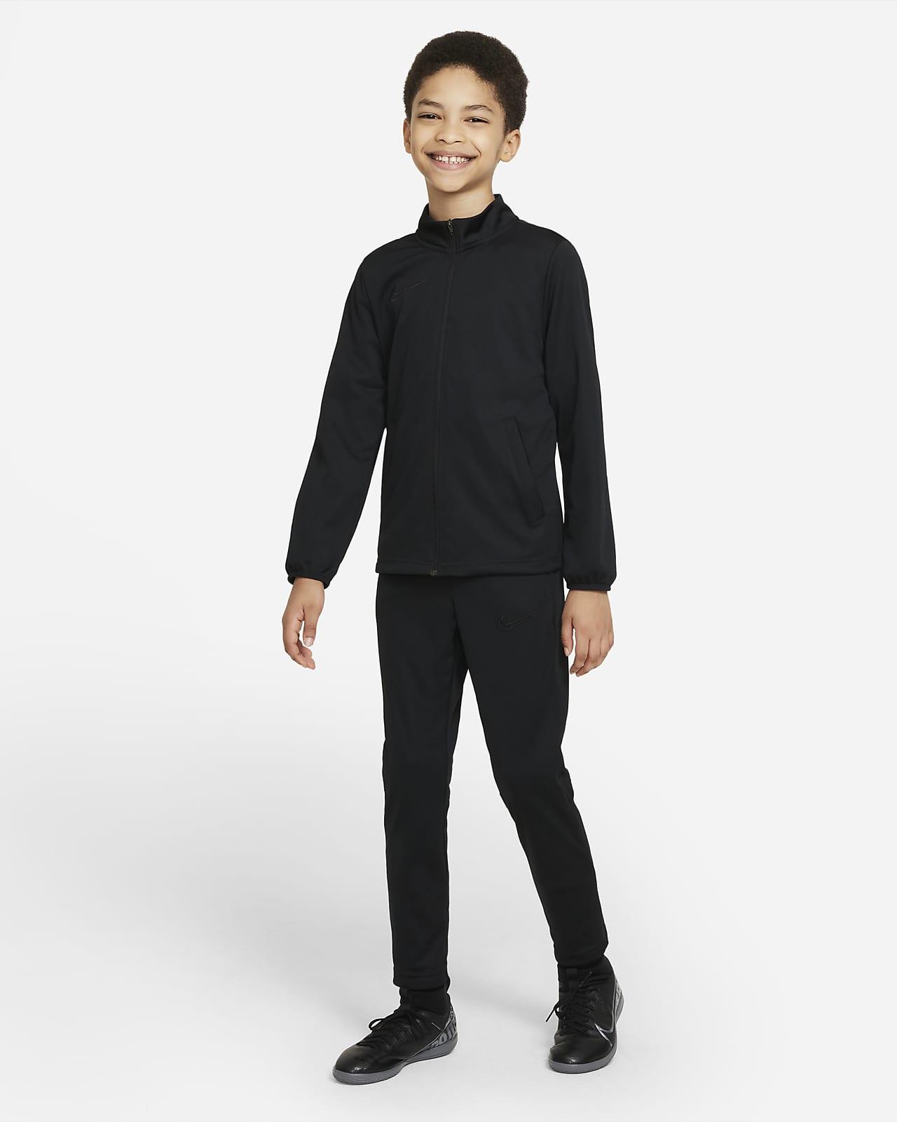 Dzianinowy dres piłkarski dla dużych dzieci Nike Dri-FIT Academy