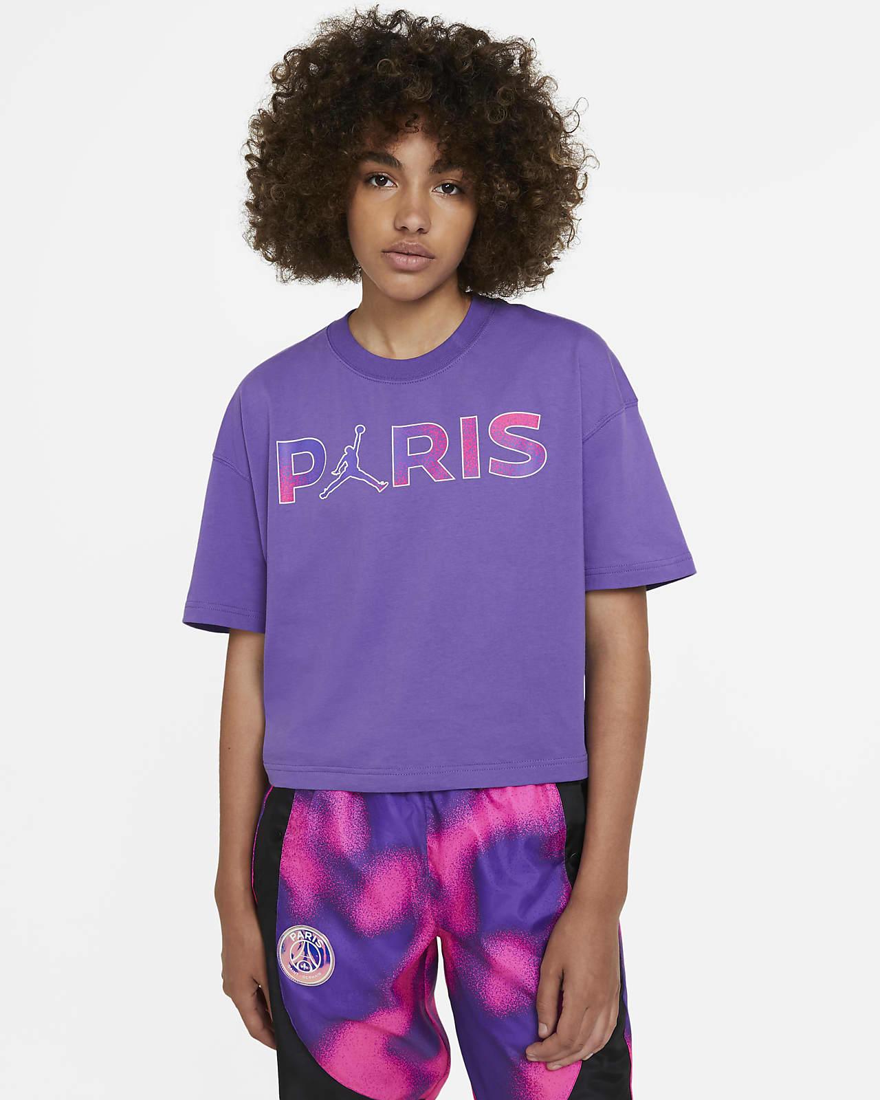 Kortärmad t-shirt Paris Saint-Germain för kvinnor