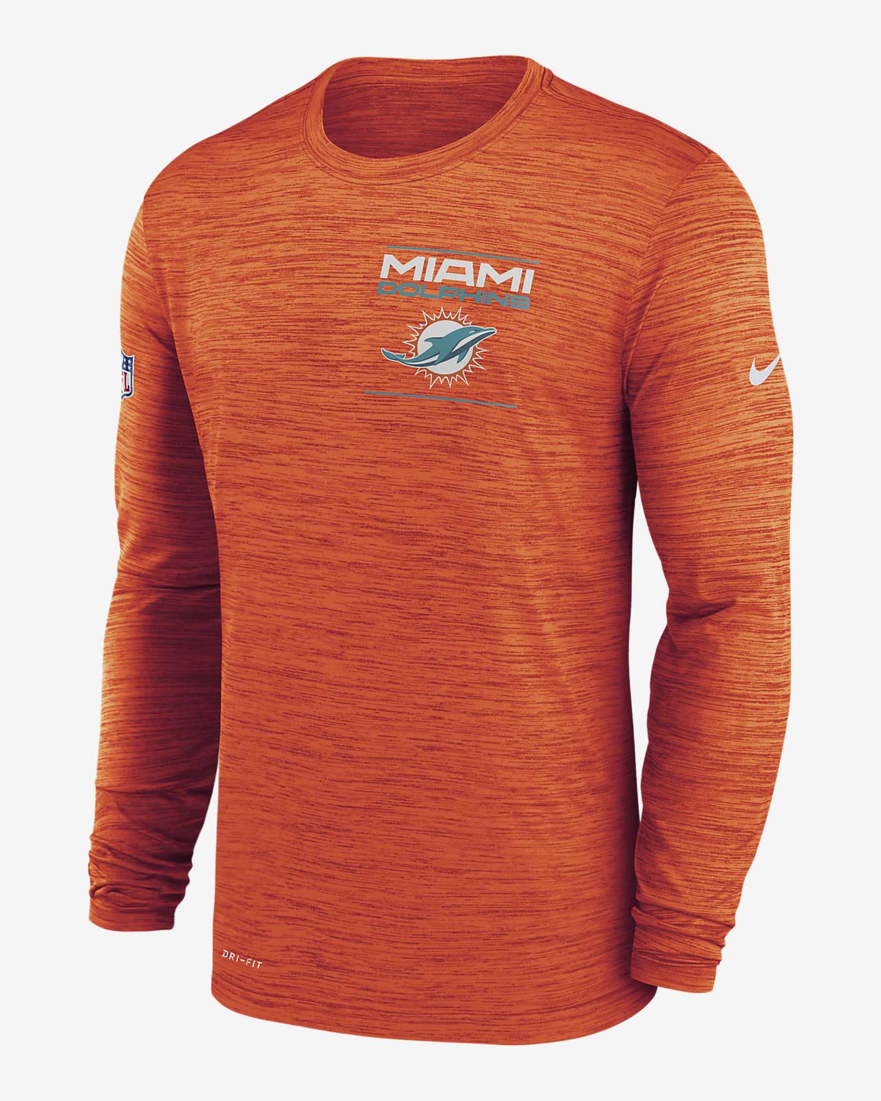 Nike Dri-FIT Sideline Velocity Legend (NFL Miami Dolphins) Men's Long-Sleeve T-Shirt