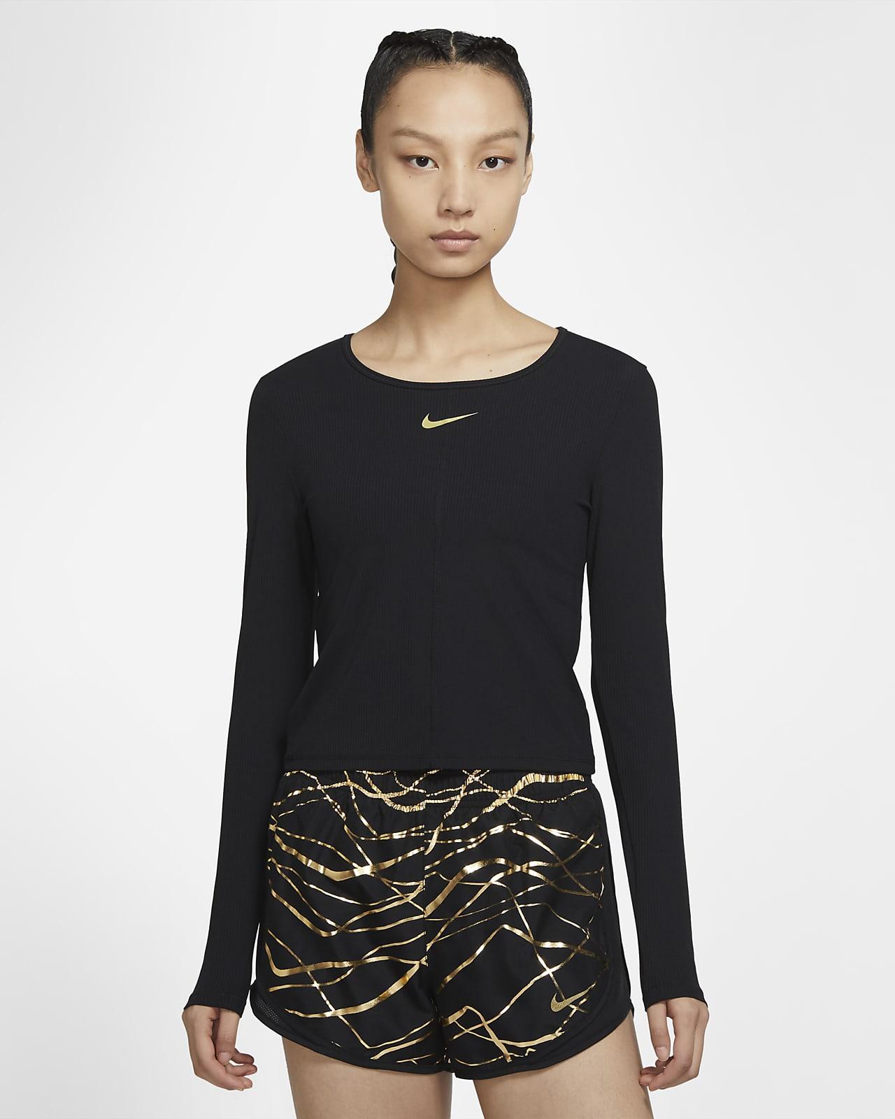 เสื้อวิ่งแขนยาวผู้หญิง Nike Icon Clash