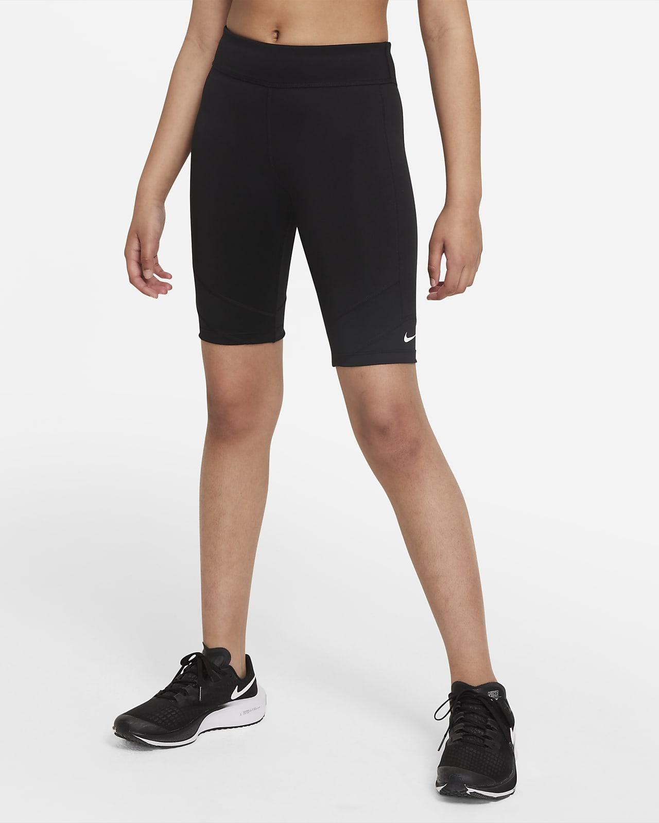 กางเกงปั่นจักรยานขาสั้นเด็กโต Nike Dri-FIT One (หญิง)