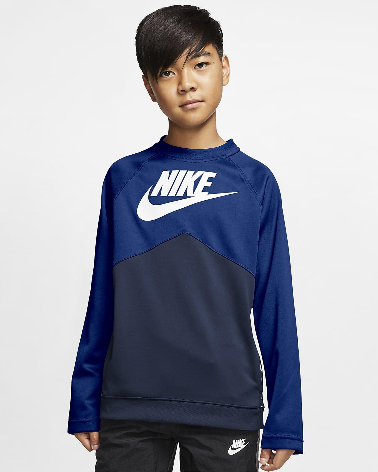 Tröja med rundad hals Nike Sportswear för ungdom (killar)