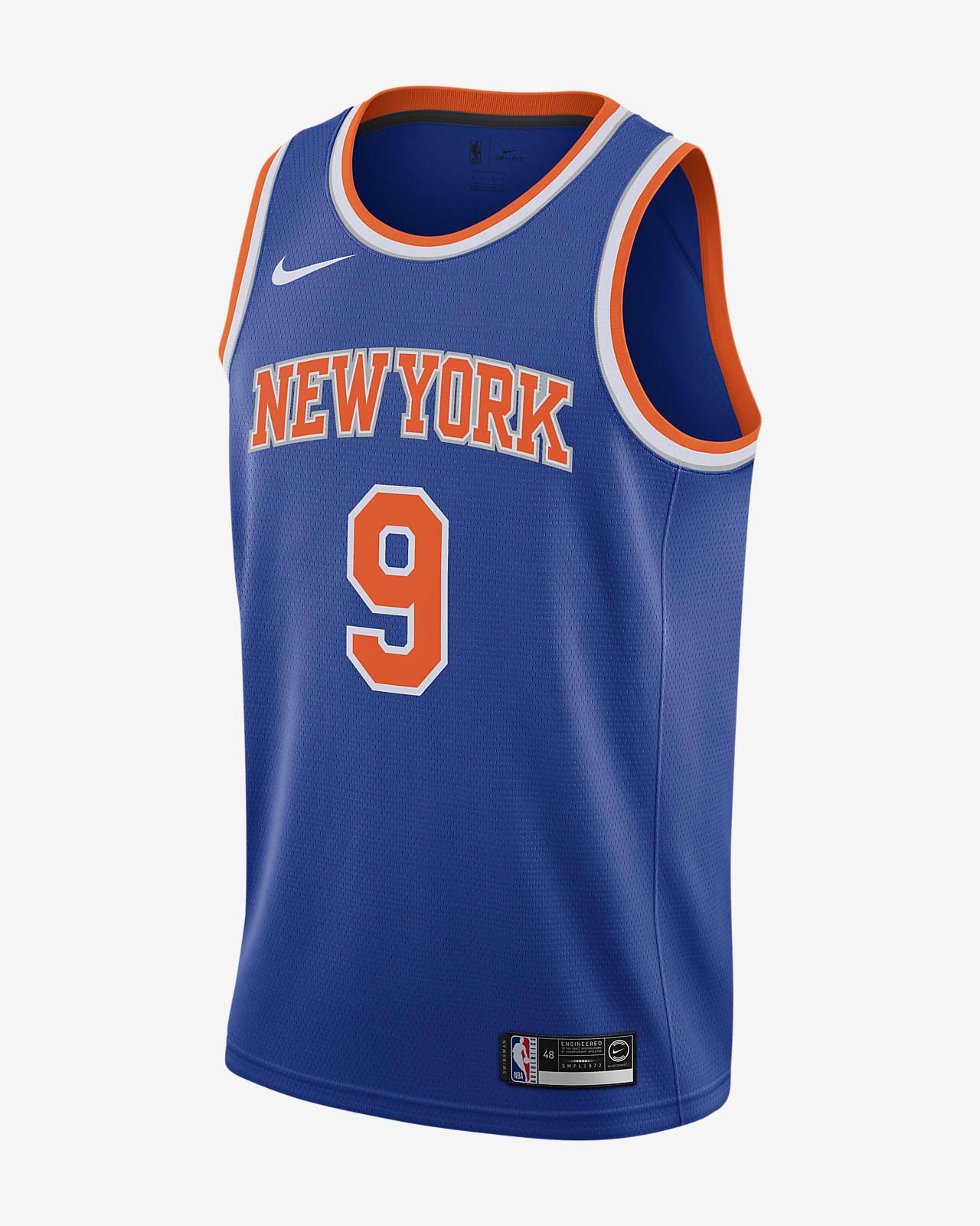 Camiseta Nike NBA Swingman para hombre RJ Barrett Knicks Icon Edition