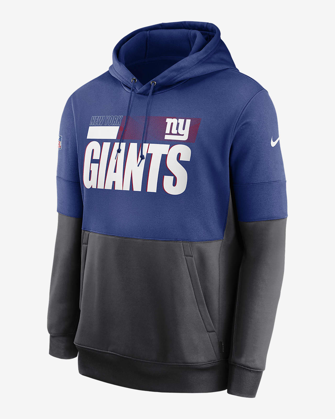 Nike Therma Team Name Lockup (NFL New York Giants) Men's Pullover Hoodie