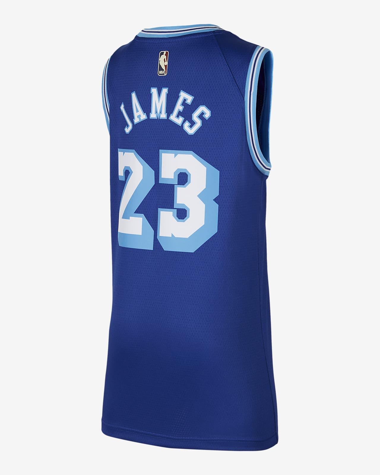 lebron james blue jersey