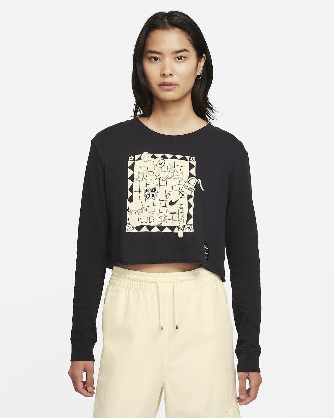 Nike Sportswear Women's Cropped Long-Sleeve T-Shirt