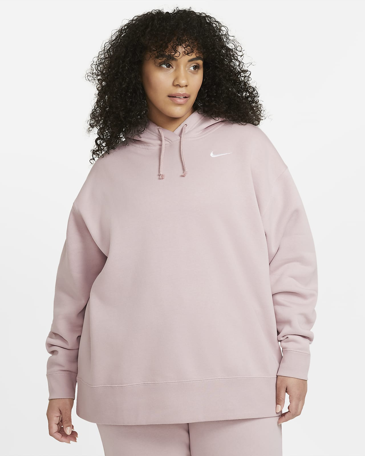 Nike Sportswear Sudadera de tejido Fleece (Talla grande) - Mujer