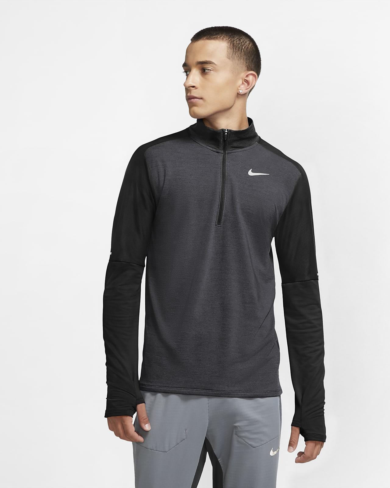 Nike Dri-FIT løpeoverdel med glidelås i halsen til herre