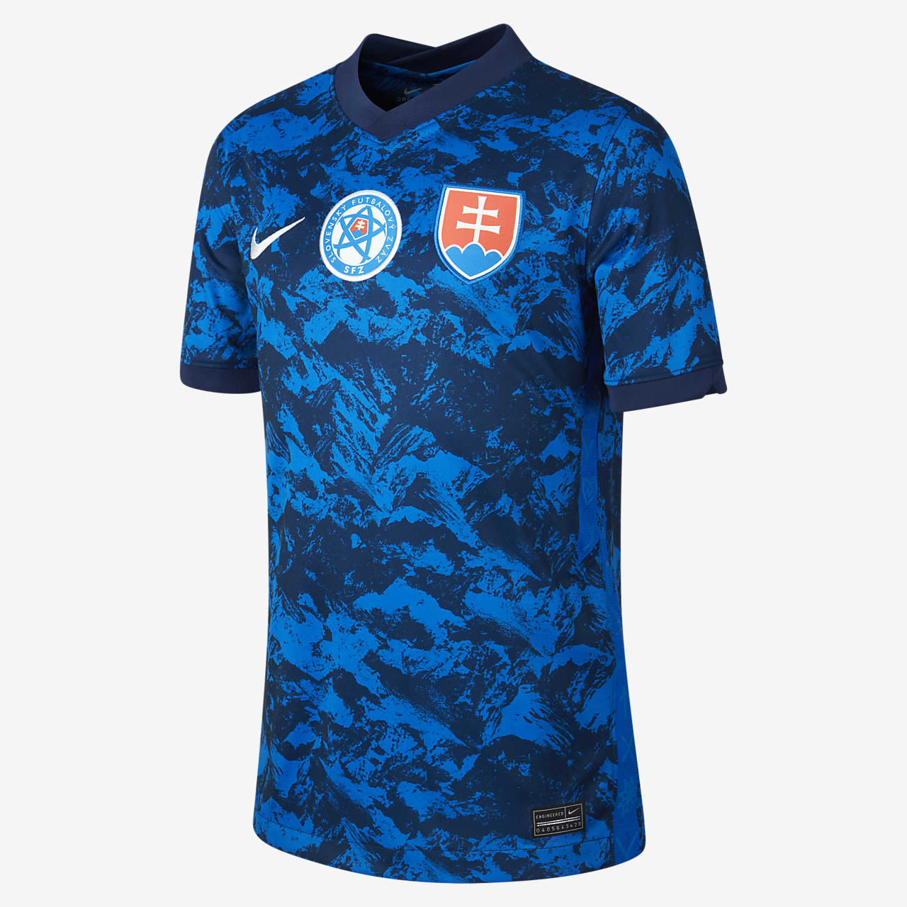 Camisola de futebol do equipamento principal Stadium Eslováquia 2020 Júnior