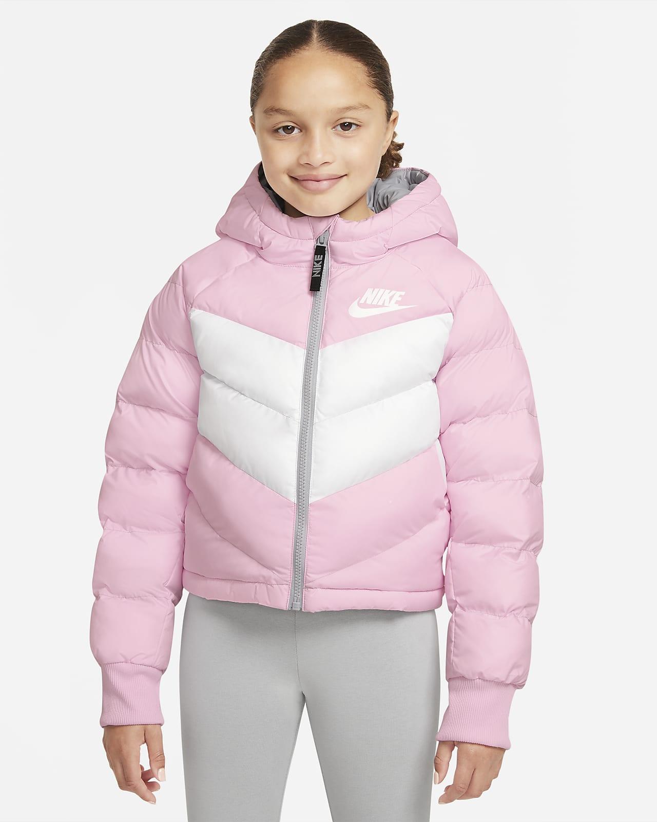 Nike Sportswear Big Kids' (Girls') Synthetic Fill Hooded Jacket