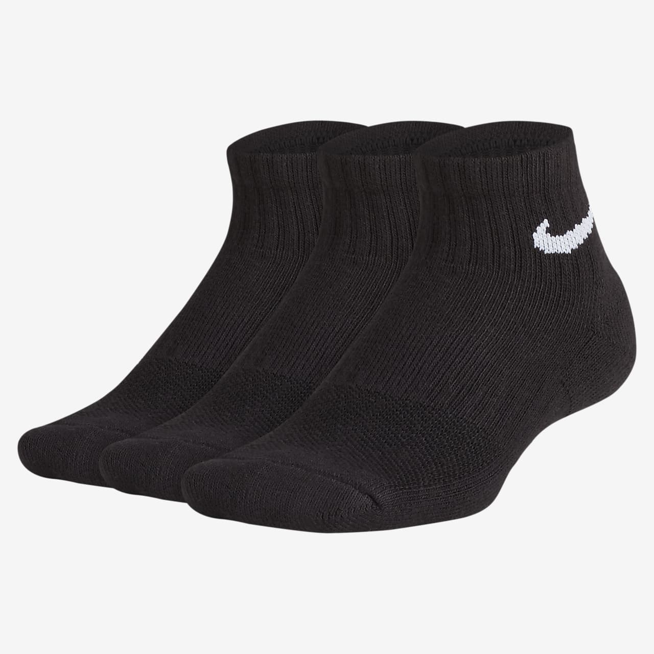 Kotníkové polstrované ponožky Nike Everyday s grafickým motivem pro větší děti (3 páry)
