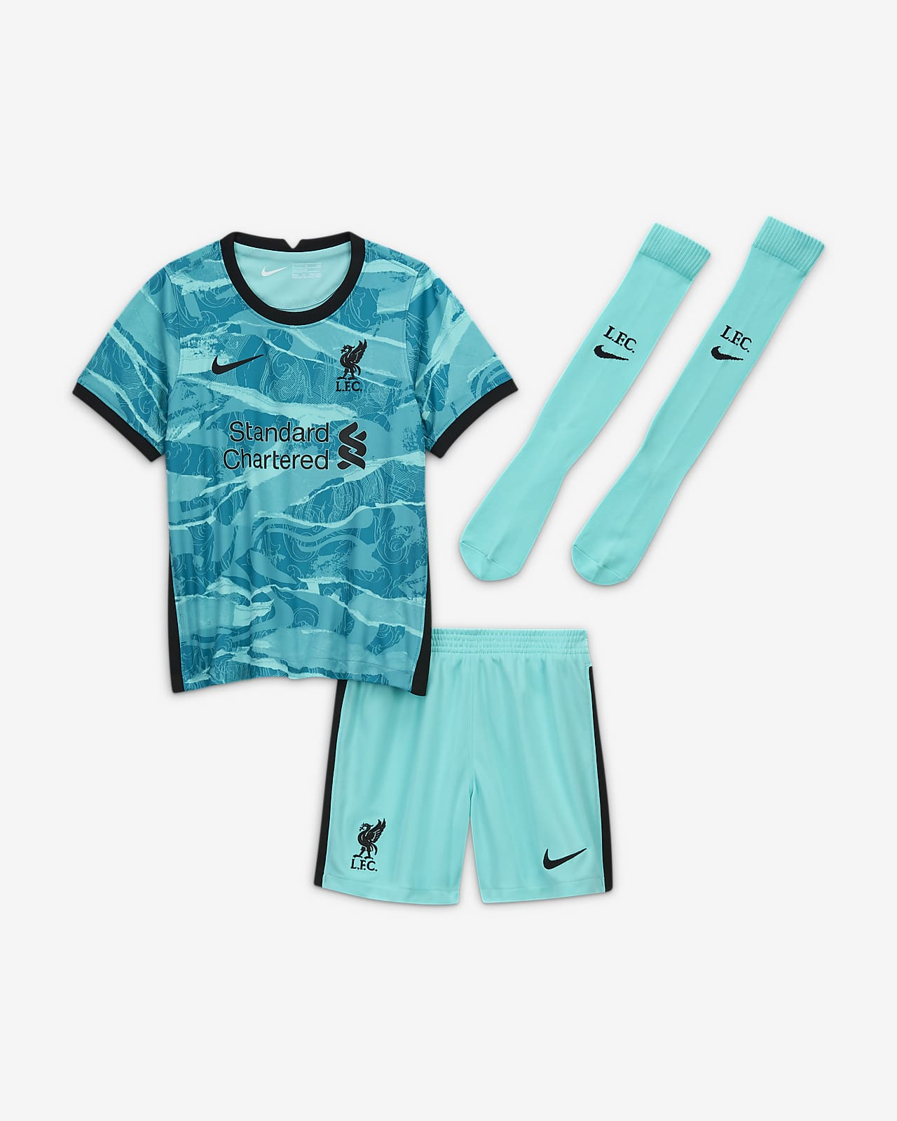 Liverpool Fc 2020 21 Away Younger Kids Football Kit Nike Ie