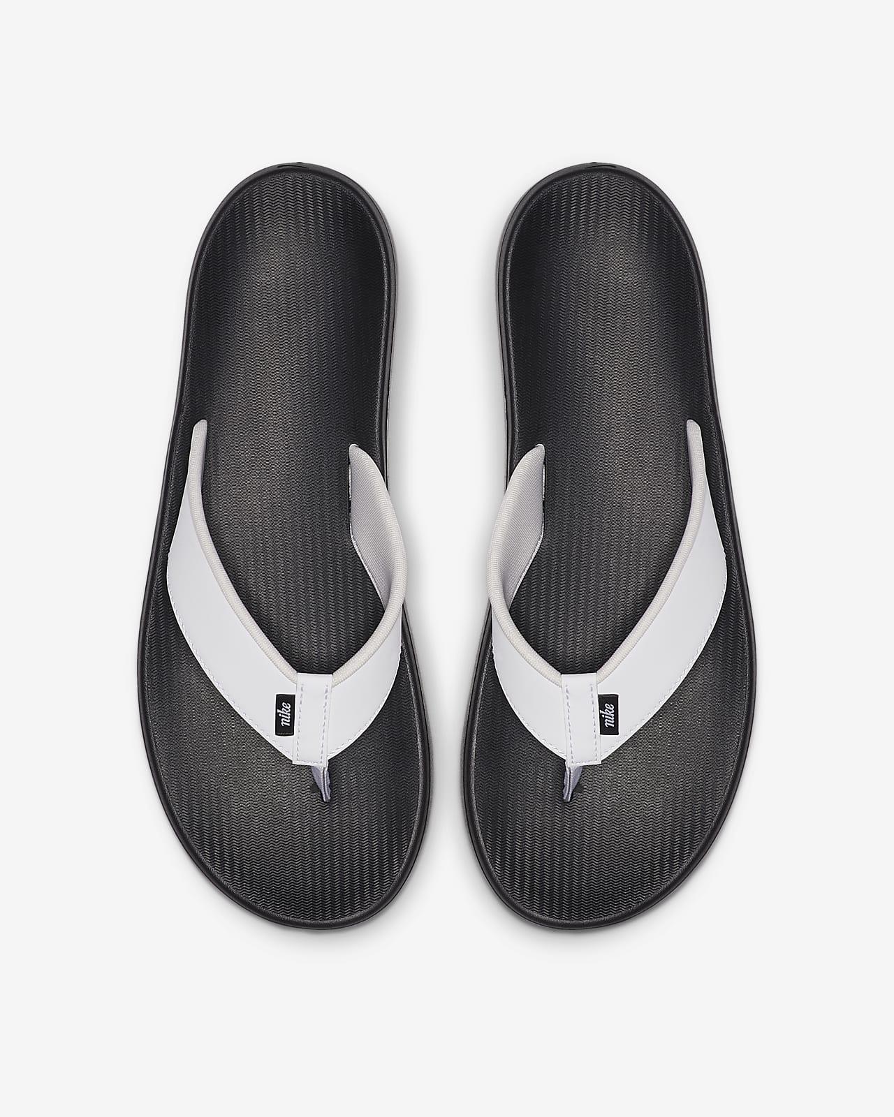 black nike thong sandals