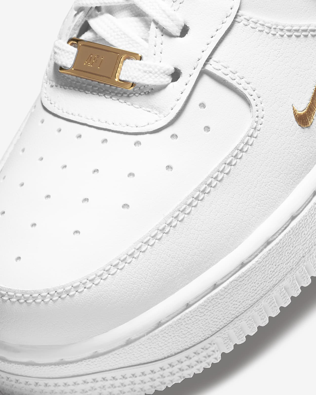 nike air force 1 07 donna bianche e oro