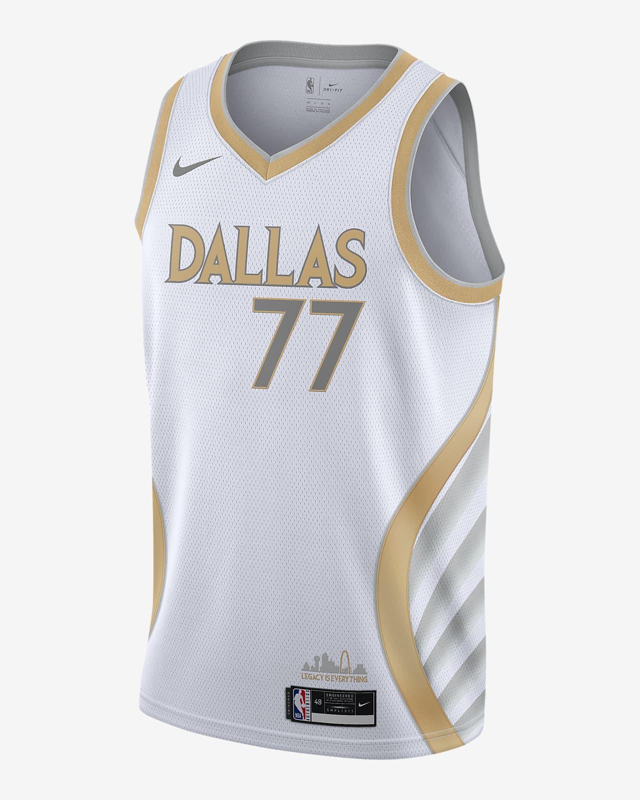 New Dallas Mavericks #77 Luka Doncic City version Basketball Jersey White