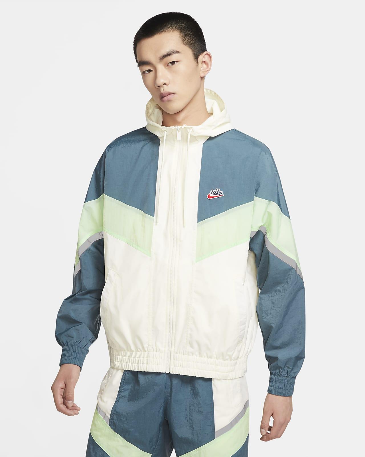 เสื้อแจ็คเก็ตมีฮู้ดผู้ชาย Nike Sportswear Windrunner+