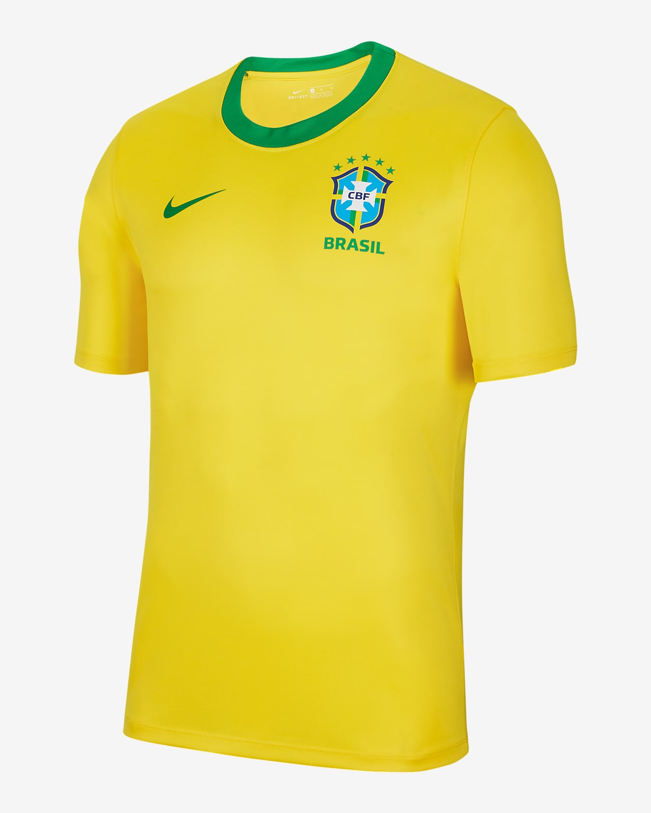 Brazil Home Men's Short-Sleeve Football Top