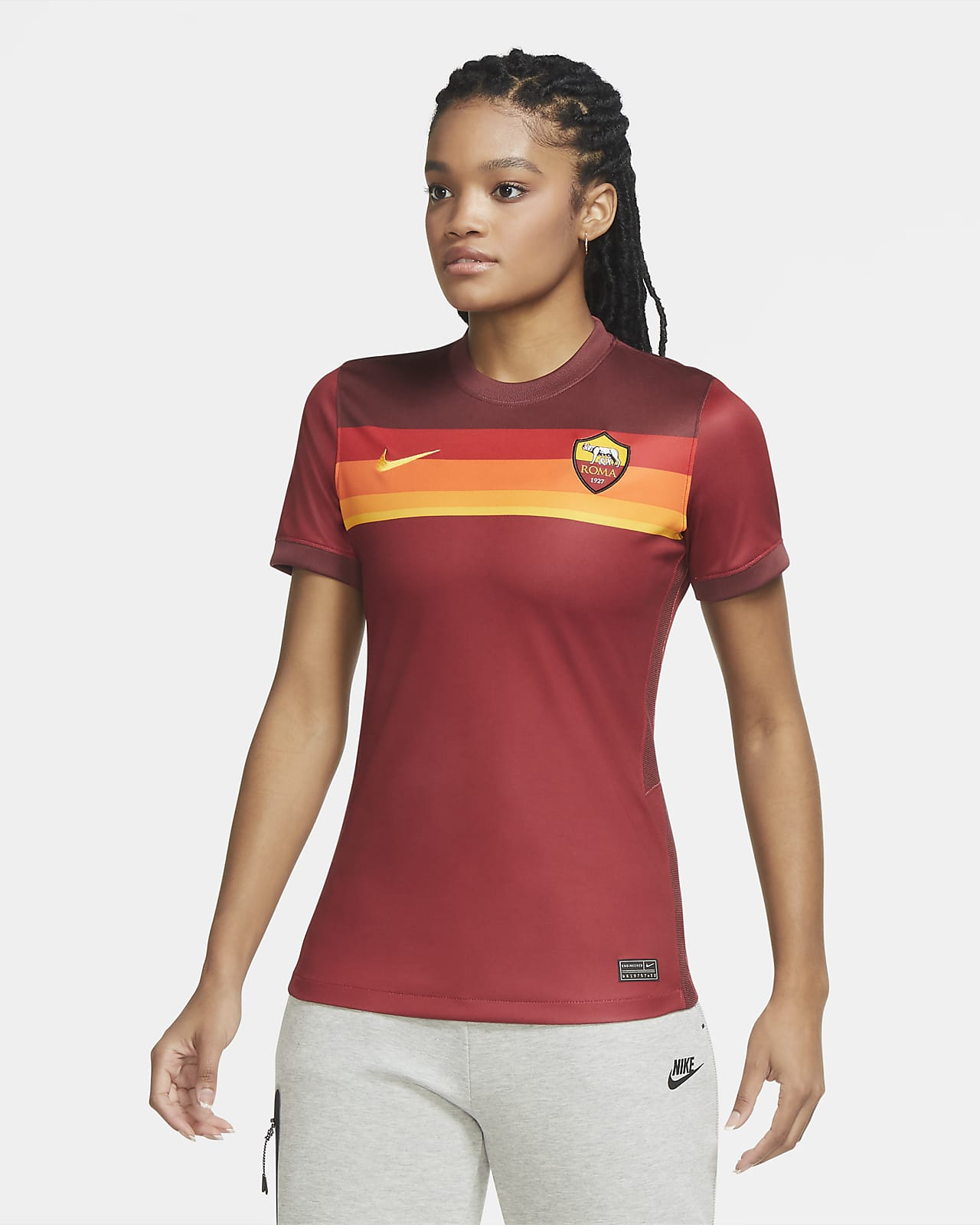 AS Roma 2020/21 Stadium Thuis Voetbalshirt voor dames
