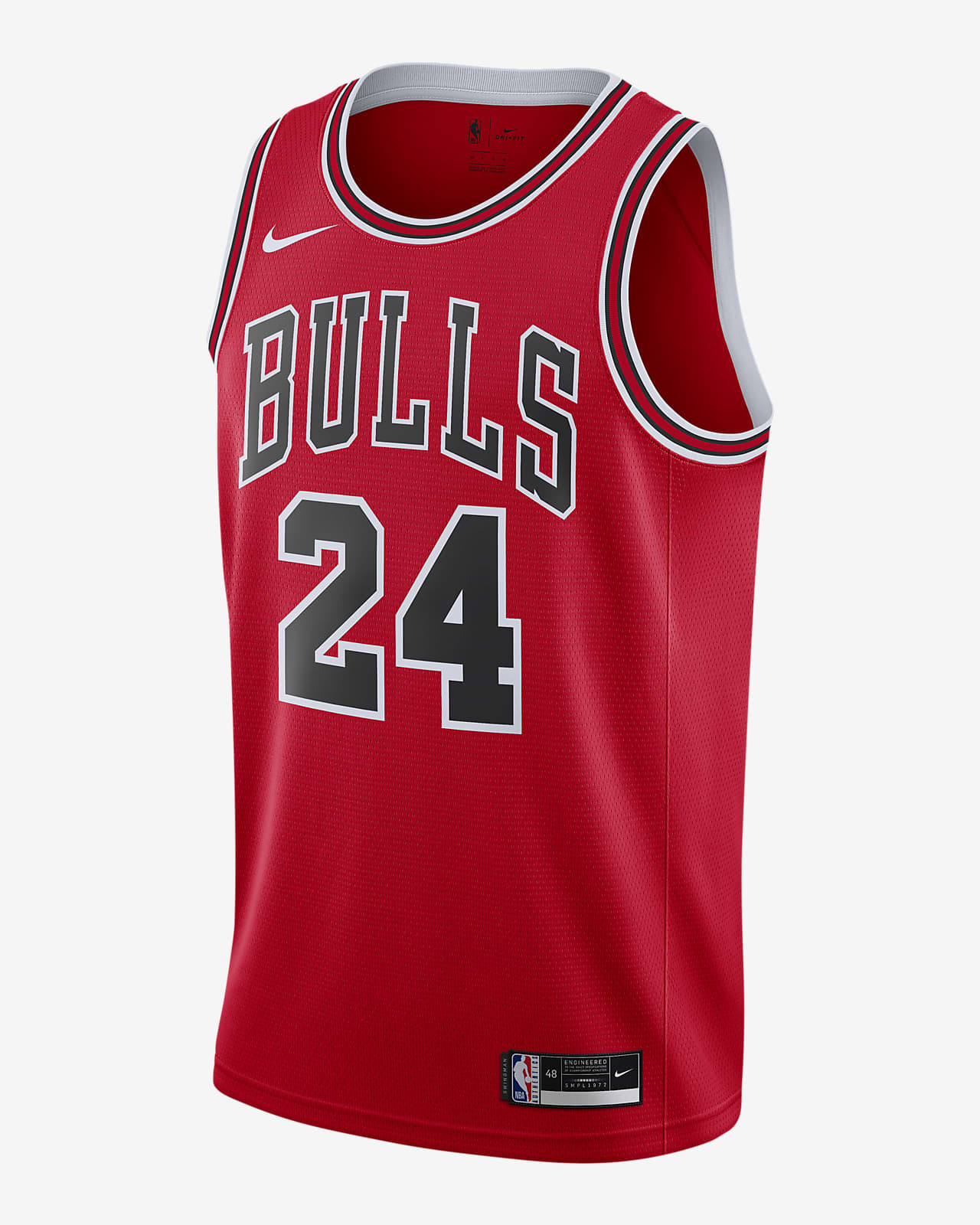 Camiseta Nike NBA Swingman Lauri Markkanen Bulls Icon Edition 2020