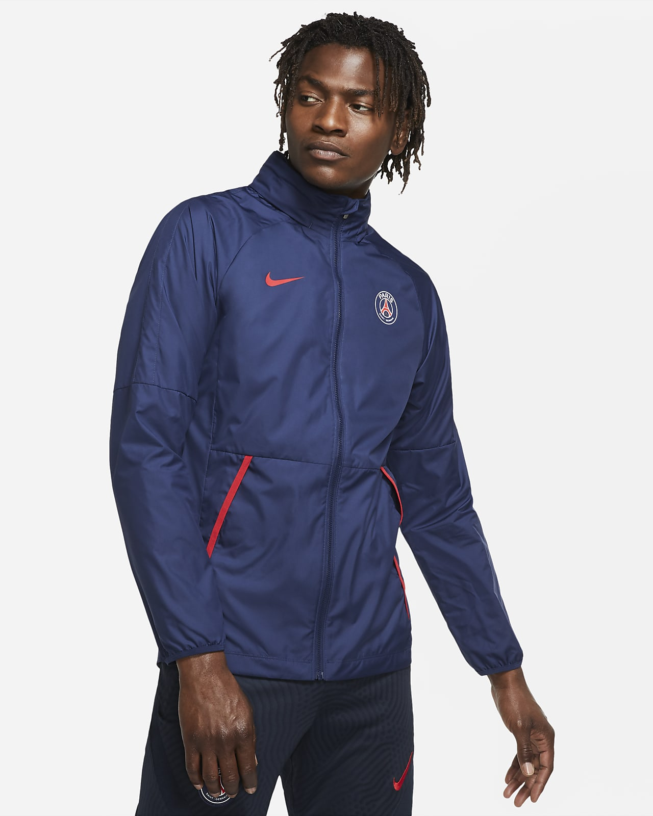 Paris Saint-Germain Repel Men's Graphic Football Jacket