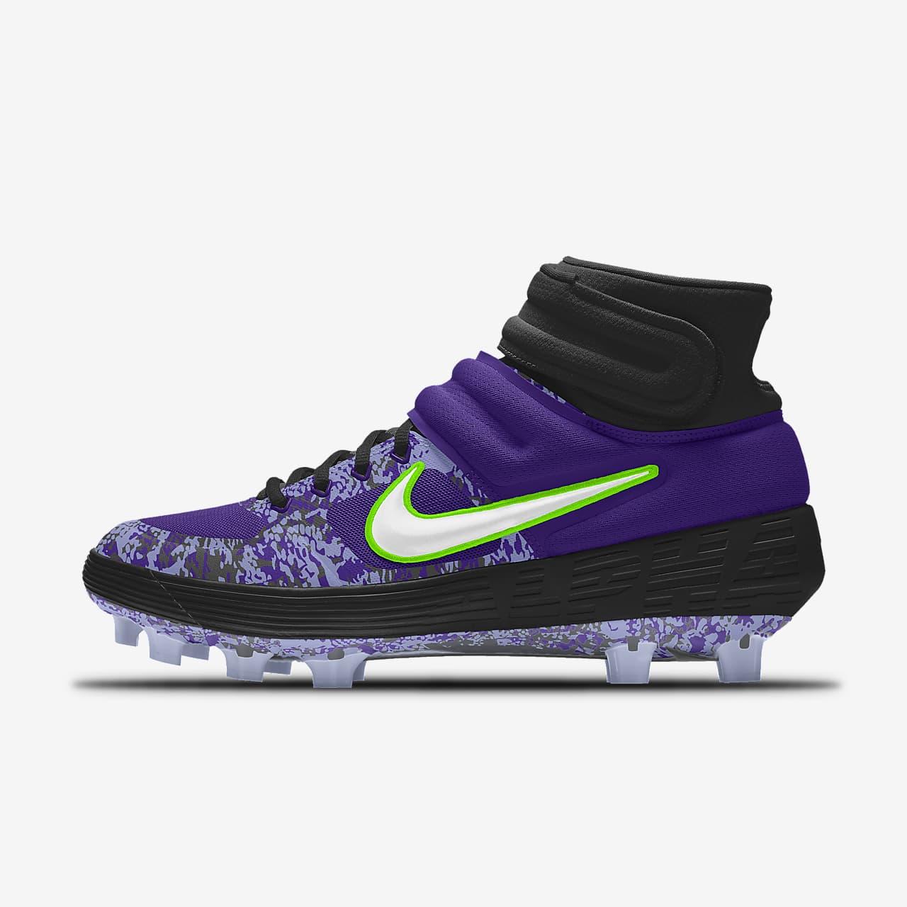Nike Alpha Huarache Elite 2 Mid MCS Premium By You Custom Baseball Cleat