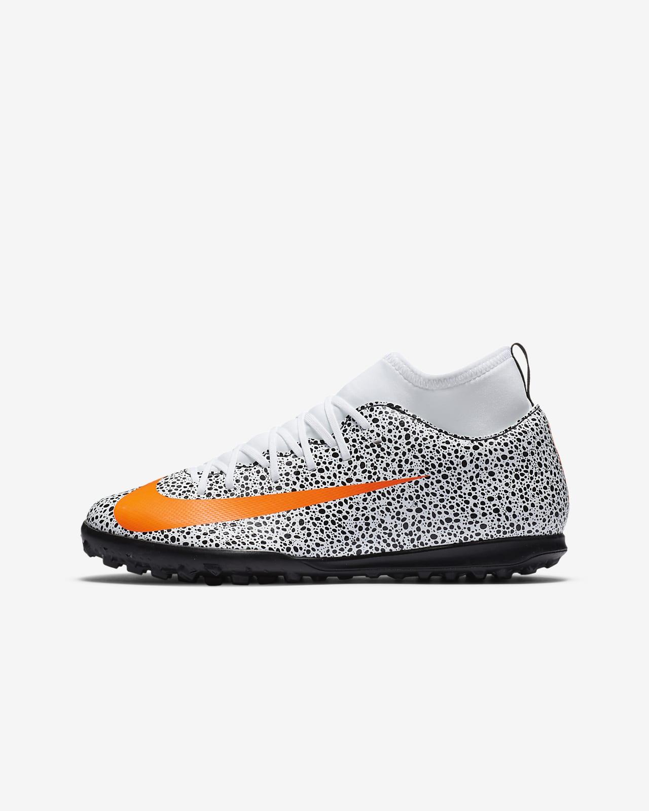 Nike Jr. Mercurial Superfly 7 Club CR7 Safari TF 小/大童人工短草草皮足球鞋