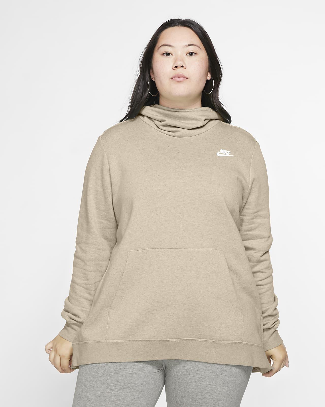 Sudadera con capucha de tejido Fleece con cuello en embudo para mujer (talla grande) Nike Sportswear