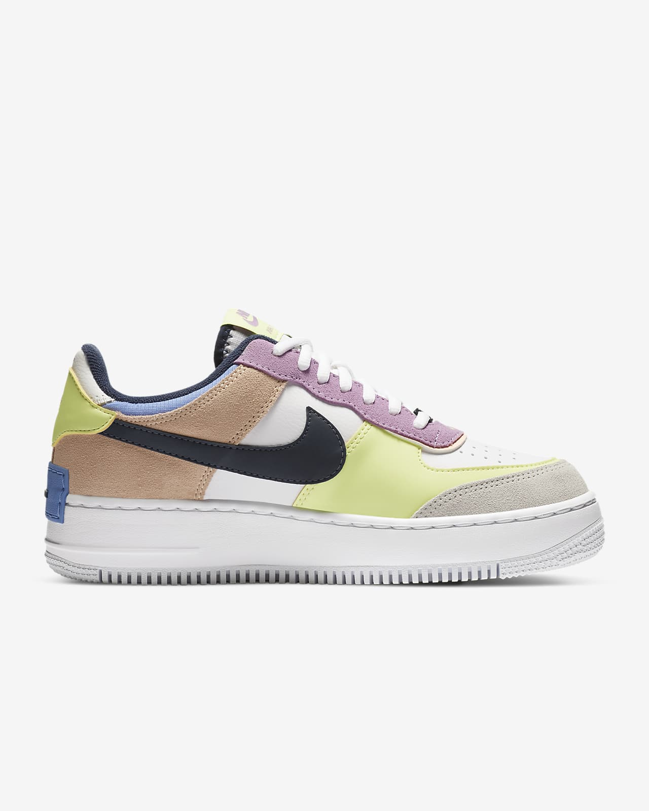 Nike Air Force 1 Shadow Women S Shoe Nike Jp Playing with the proportions of its signature 'air force 1' sneakers, nike doubles up on the details of this 'shadow' version with a layered 'swoosh' and thicker sole. nike air force 1 shadow women s shoe