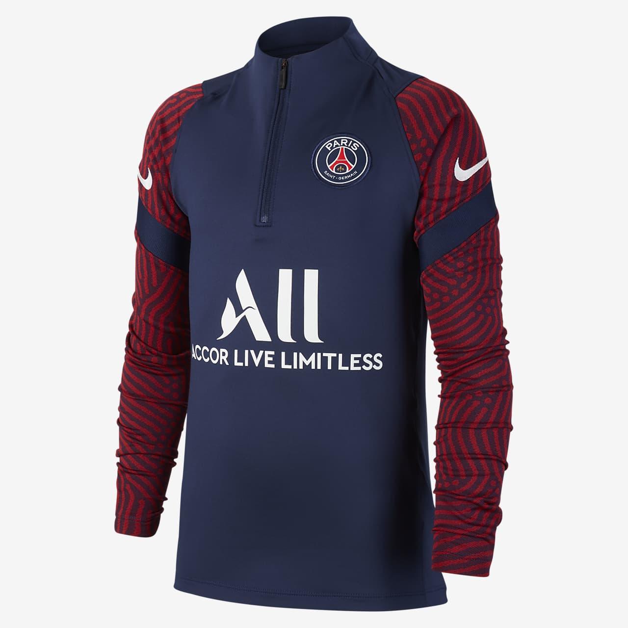 Футболка для футбольного тренинга для школьников Paris Saint-Germain Strike