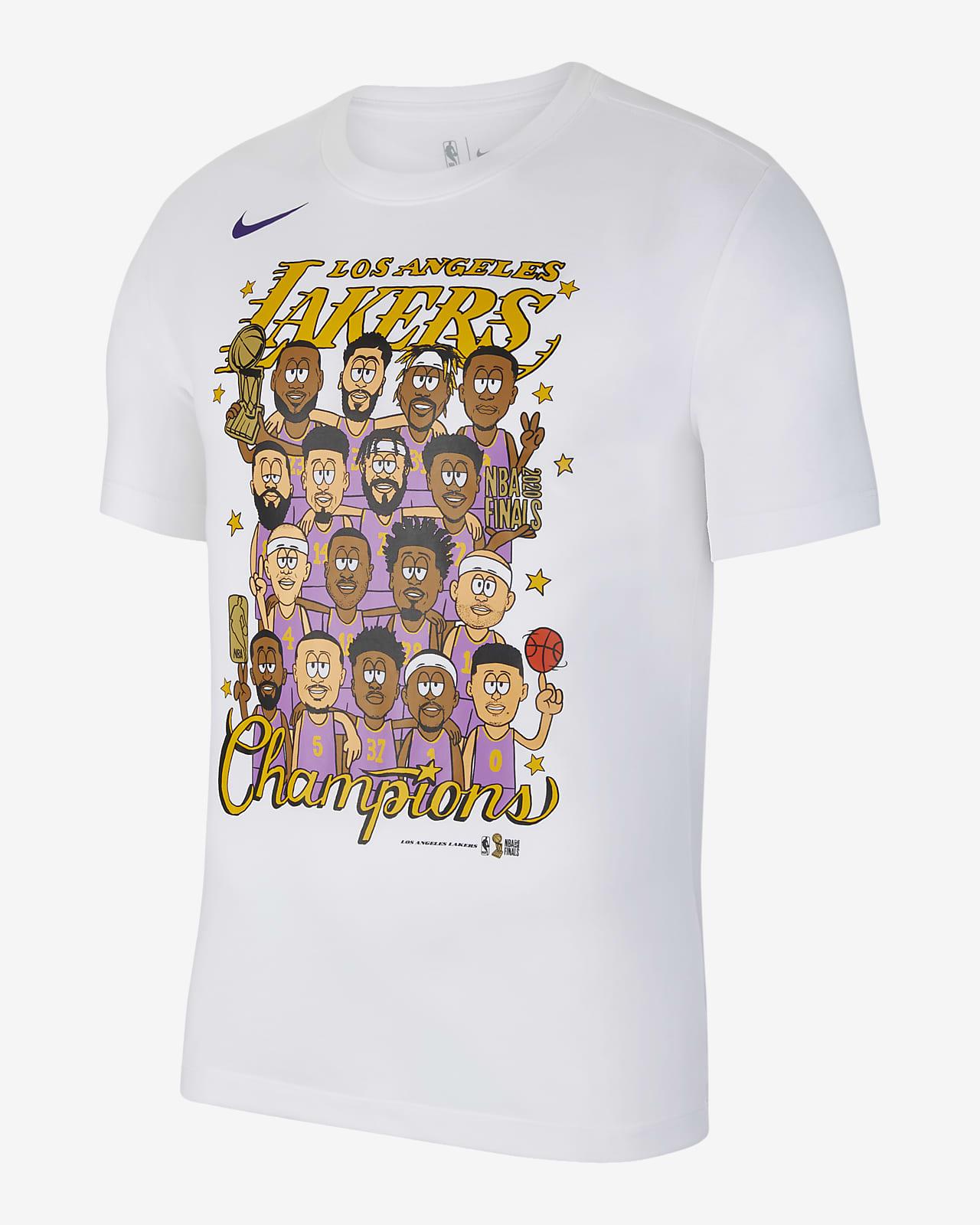 洛杉矶湖人队 Champions Nike NBA Roster 男子T恤