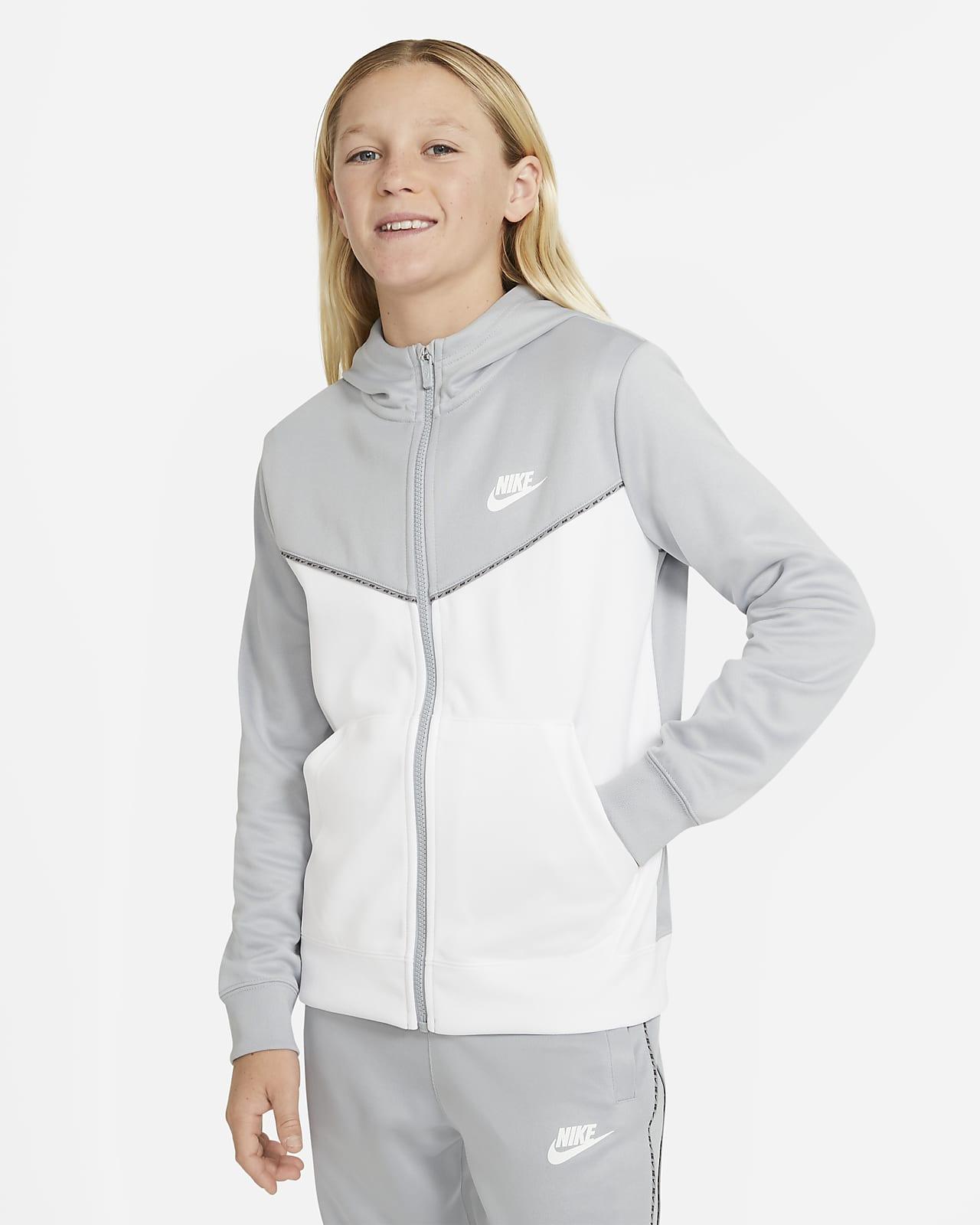 Nike Sportswear hosszú cipzáras, kapucnis pulóver nagyobb gyerekeknek (fiúk)