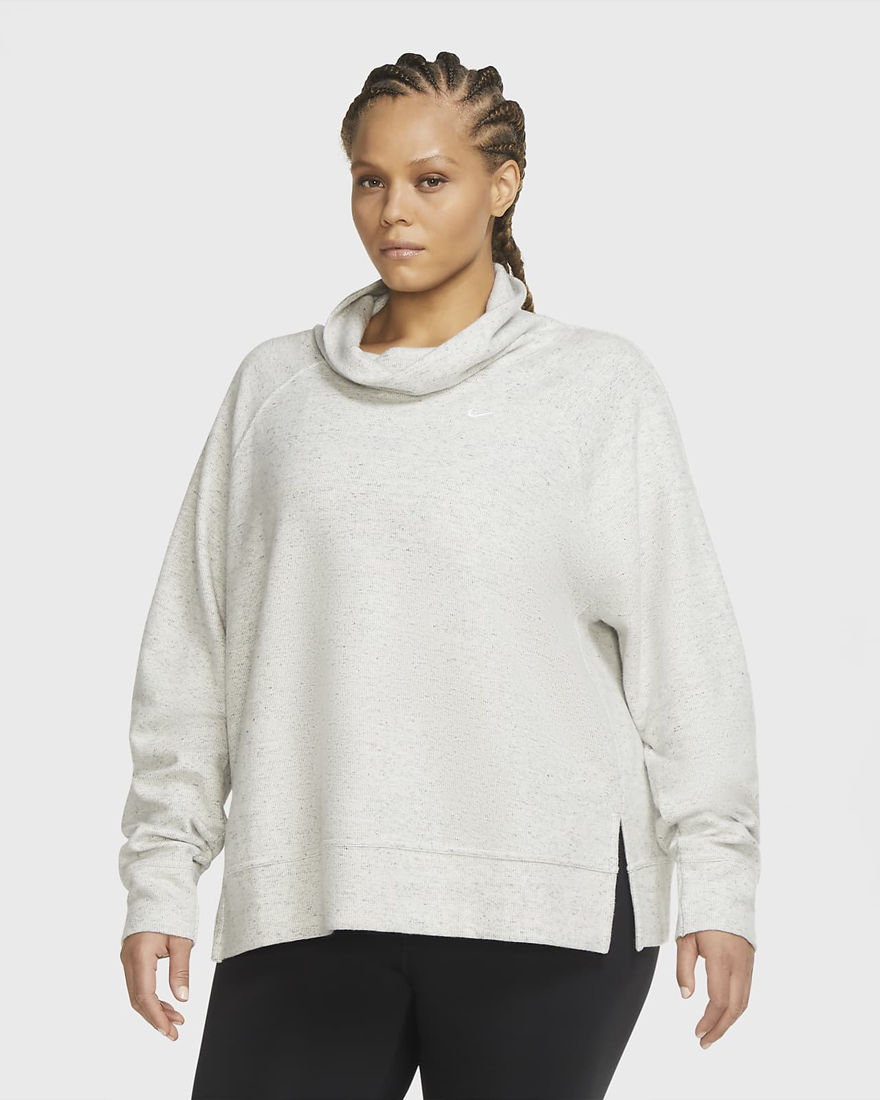 Nike Therma Women's High-Neck Fleece Training Top (Plus Size)